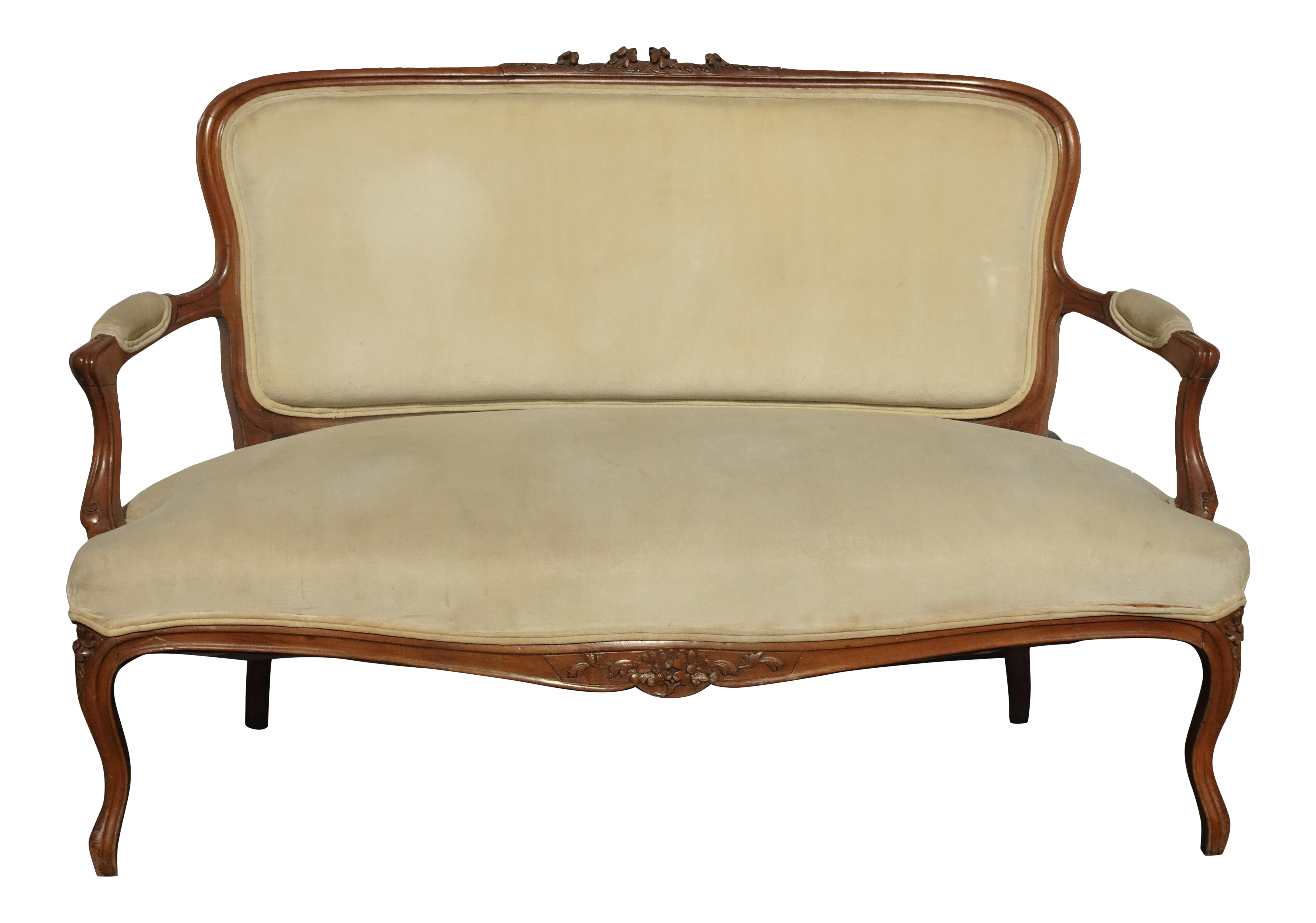 Vintage French Provincial Country Gold Velvet Settee Loveseat Rococo Louis Xvi Chairish