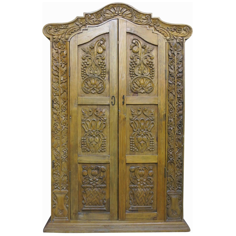 - Hand Carved Wood Wardrobe Tv Cabinet Chairish
