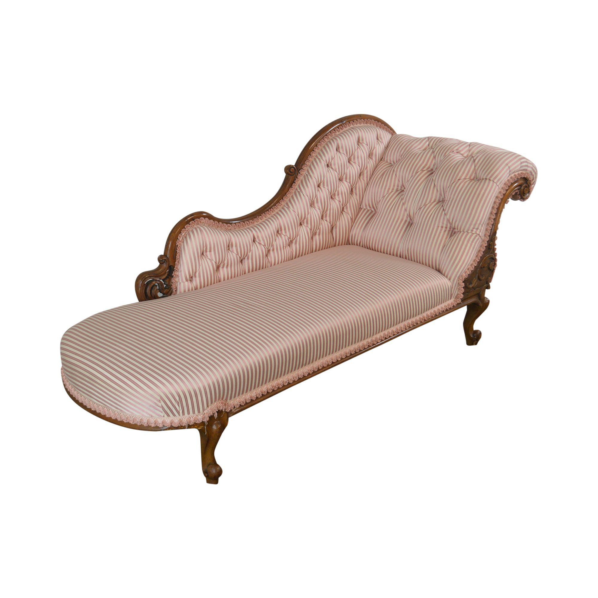 - Victorian Antique Walnut Tufted Chaise Lounge Chairish