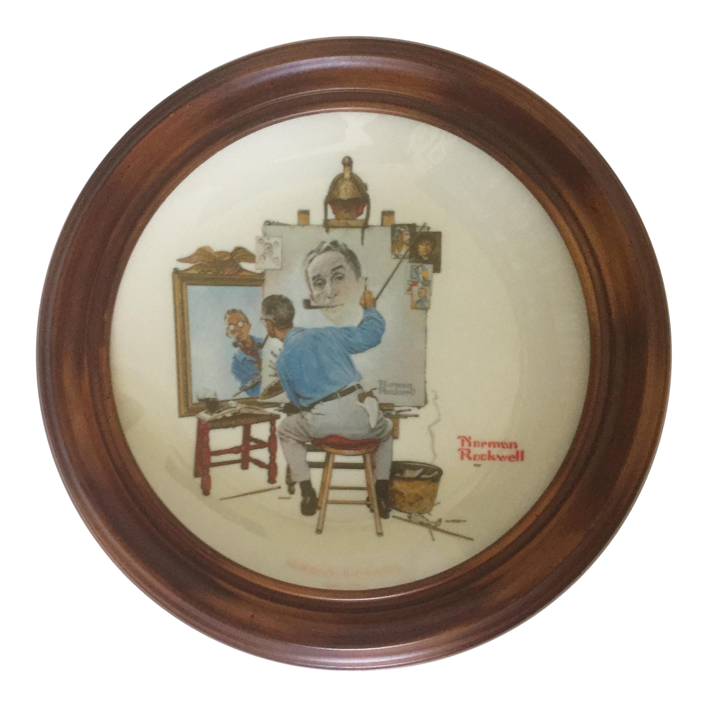 Commemorative Norman Rockwell for Gorham Plate | Chairish