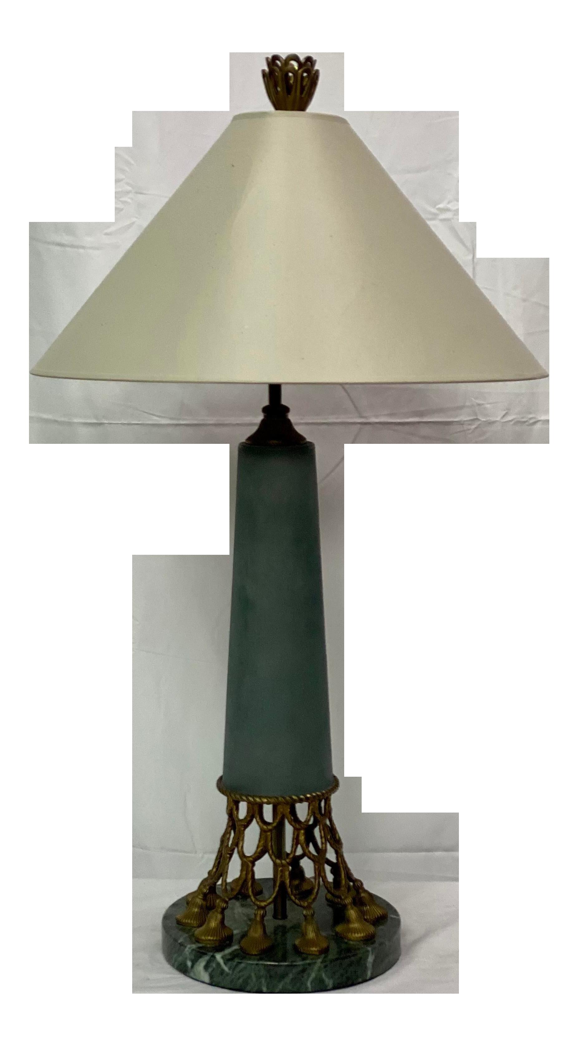 Vintage Marble Brass Chapman Hollywood Regency Table Lamp Chairish