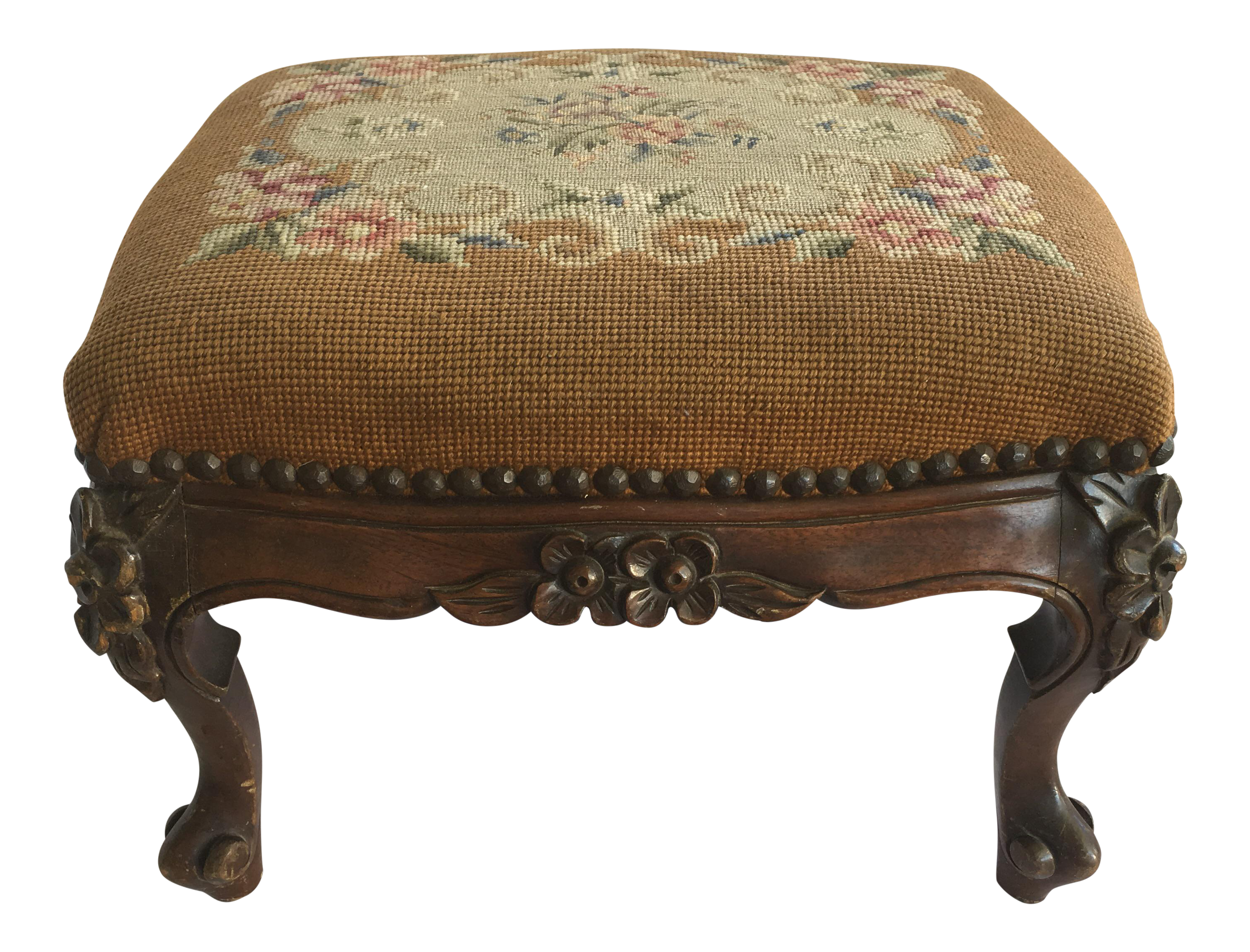 Antique colonial furniture co footstool chairish