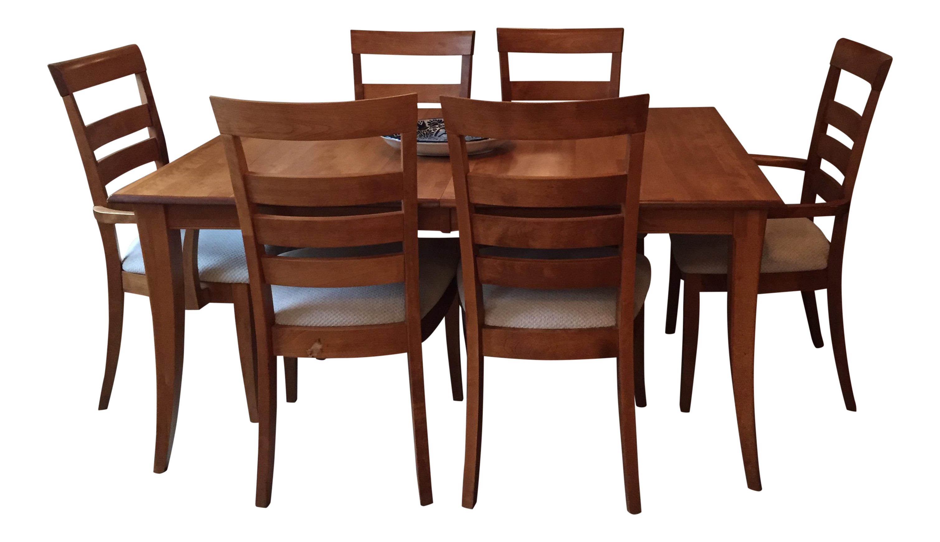 Maple Dining Set With Two Extension Leafs