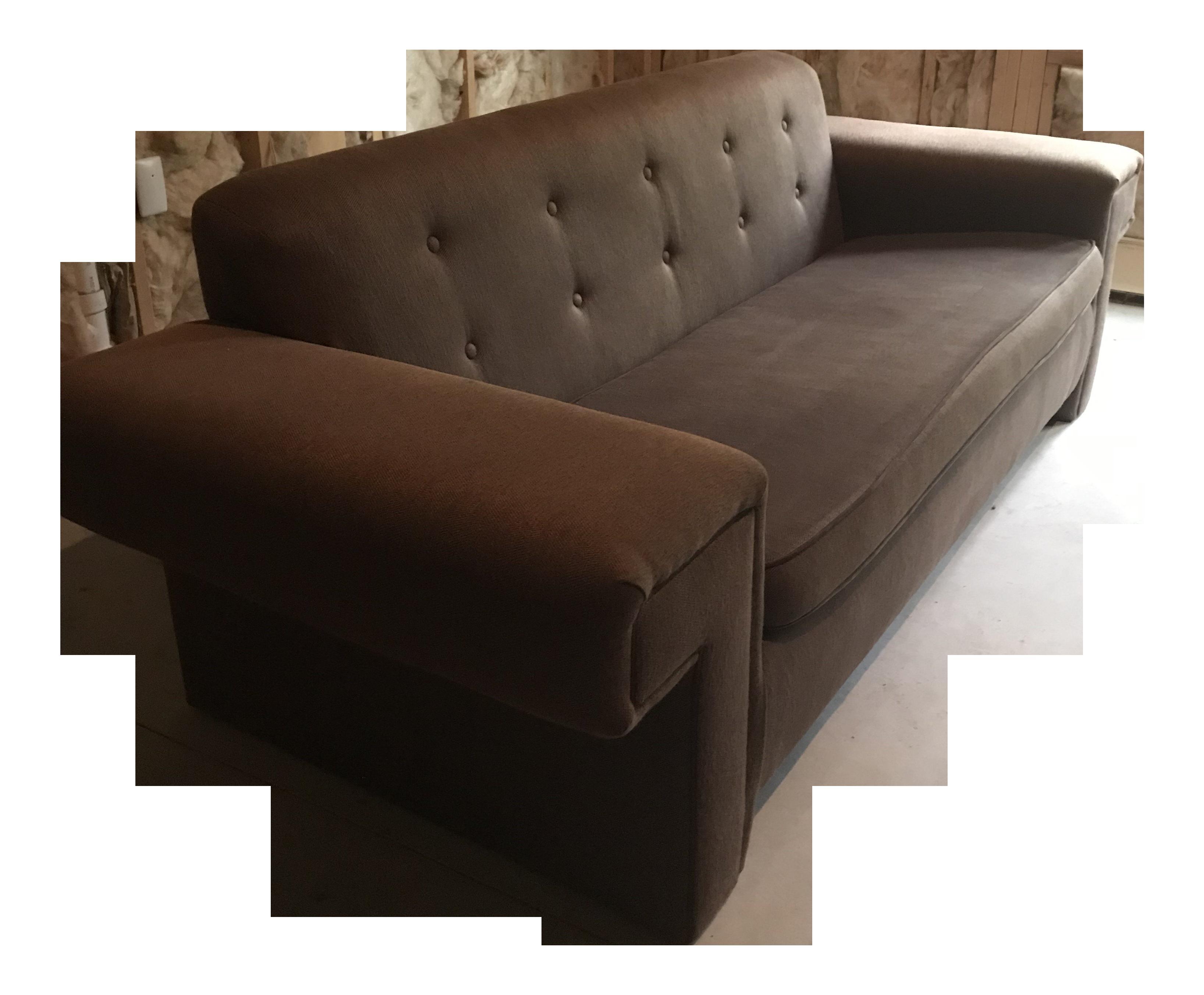 Modern Brown Contemporary Sofa   Chairish