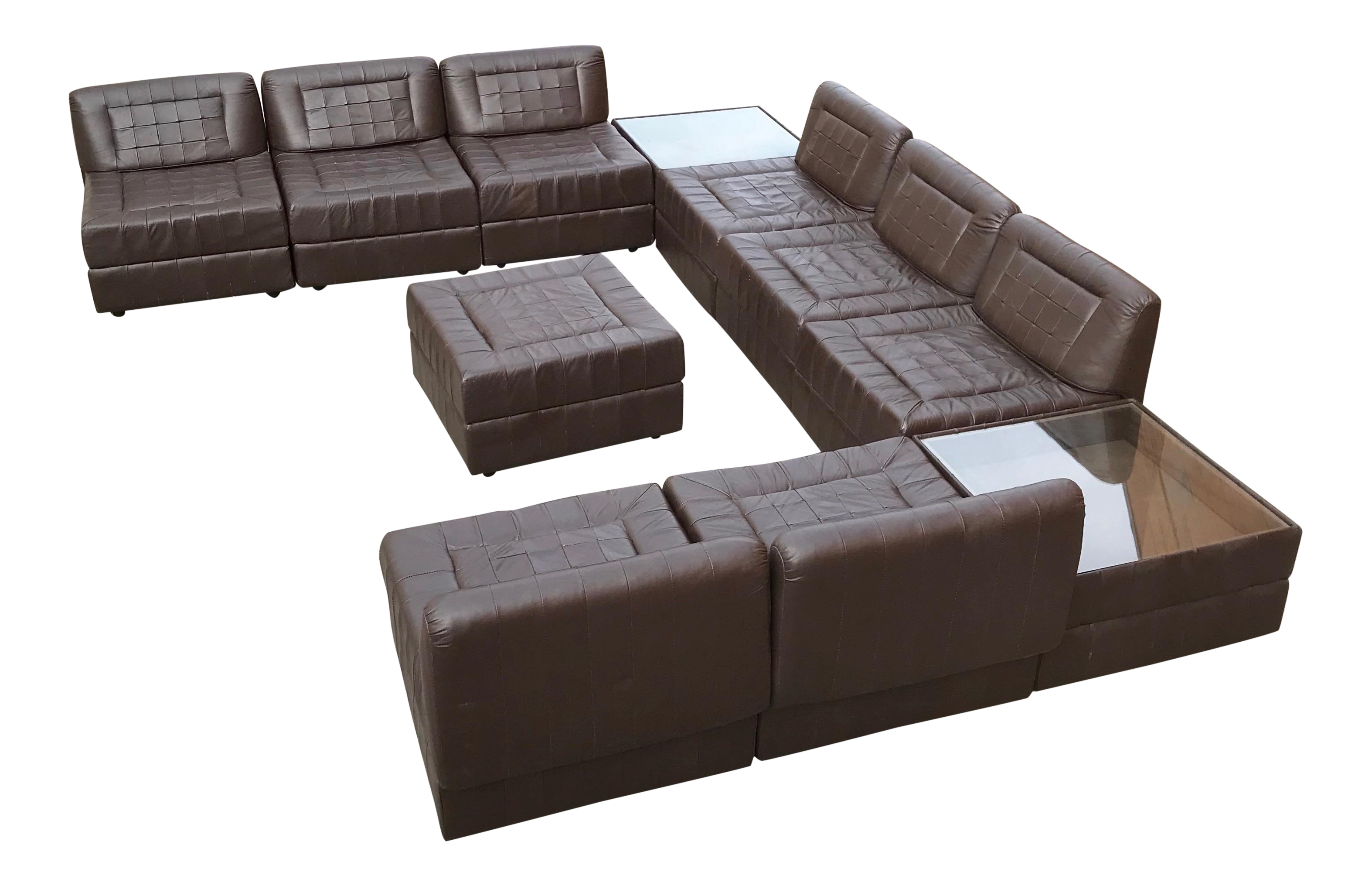 Modular Leather Sectional Sofa By Percival Lafer Chairish