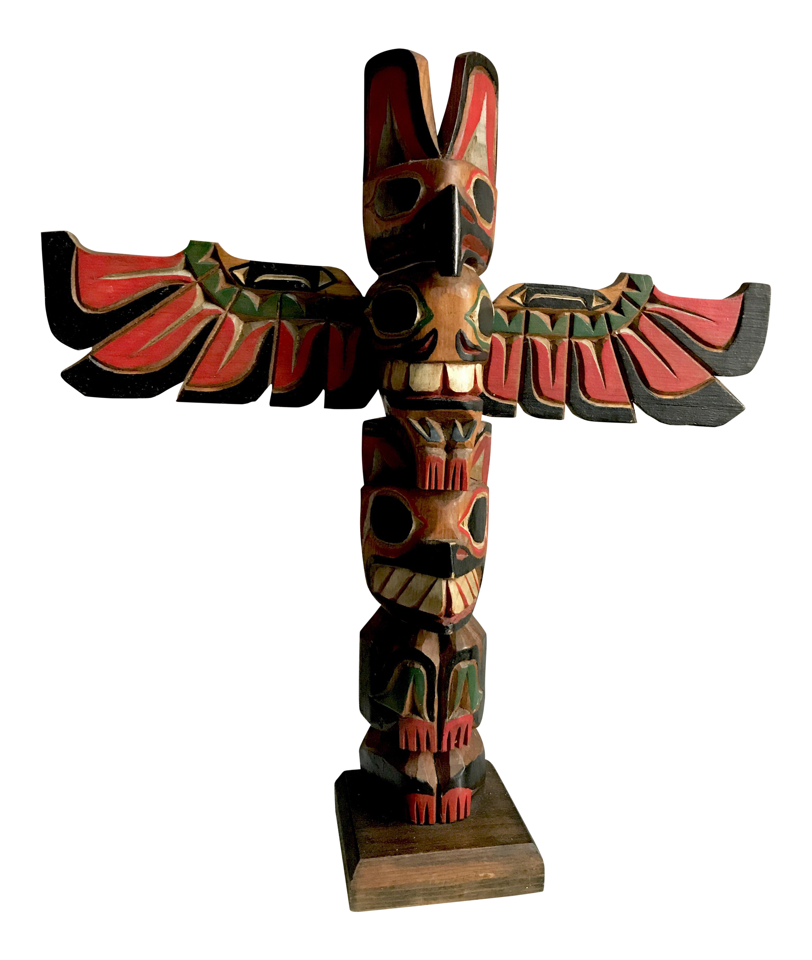 Vintage Pacific Northwest Hand Carved Native American