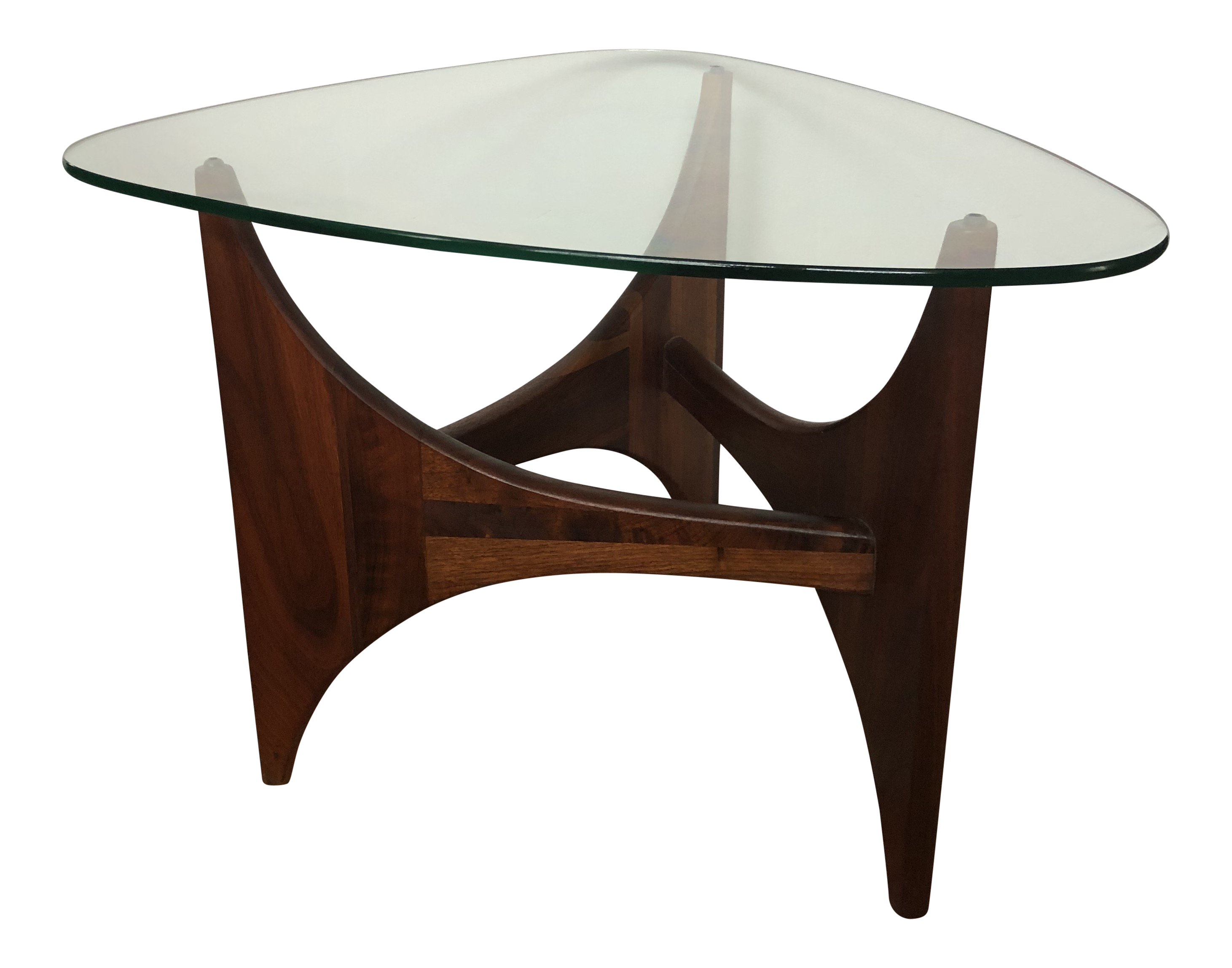 Adrian Pearsall For Craft Associates Tripod Glass Top Side Table