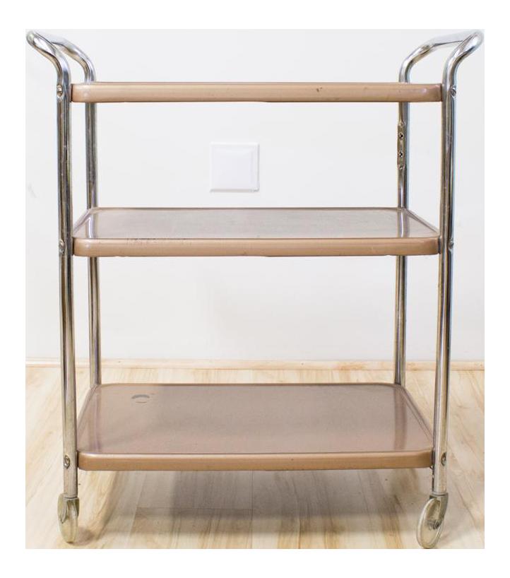 mid century industrial bar cart rose gold copper chrome chairish - Rose Gold Bar Cart