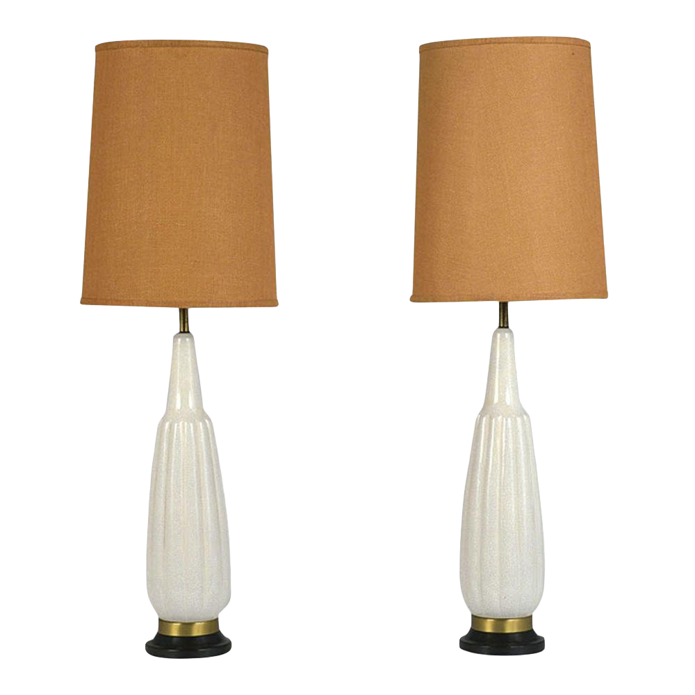 Pair Of Mid Century Modern Ceramic Table Lamps Chairish