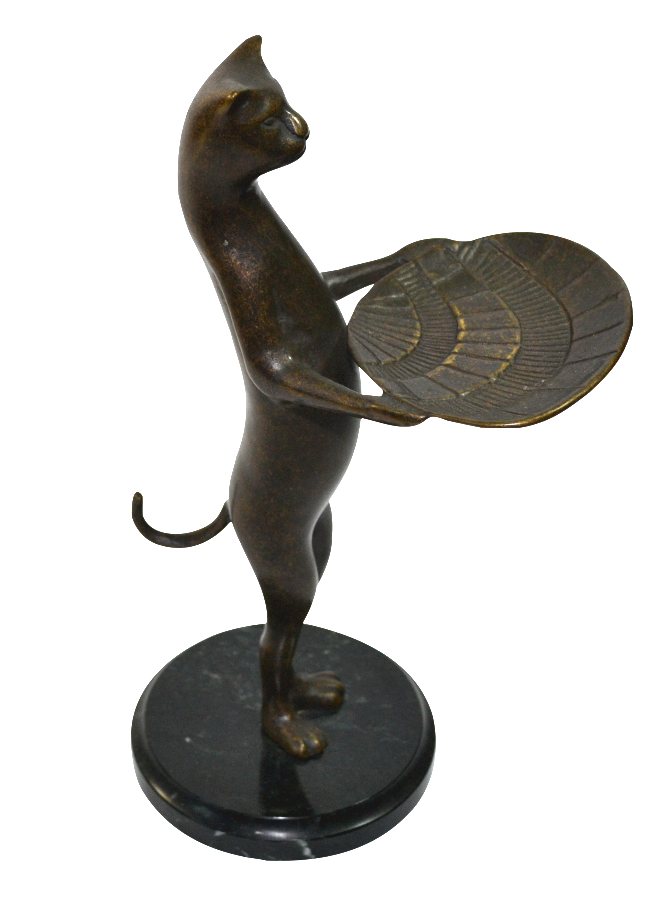 Vintage Cat Butler Cat Business Card Holder Cat Valet   Chairish