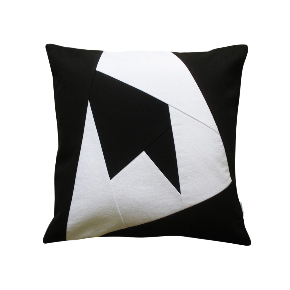 black white geometric design throw pillow case chairish. Black Bedroom Furniture Sets. Home Design Ideas