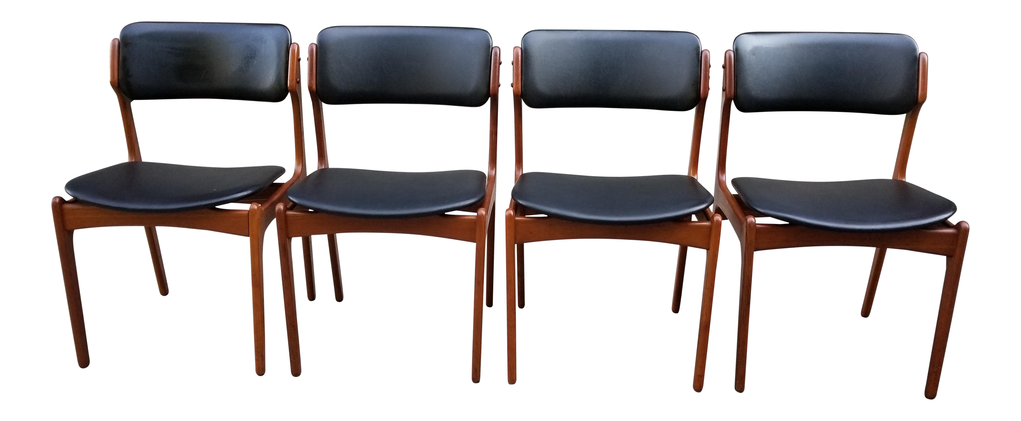 Mid Century Erick Buck Model 49 Chairs for o d Mobler Set of 4