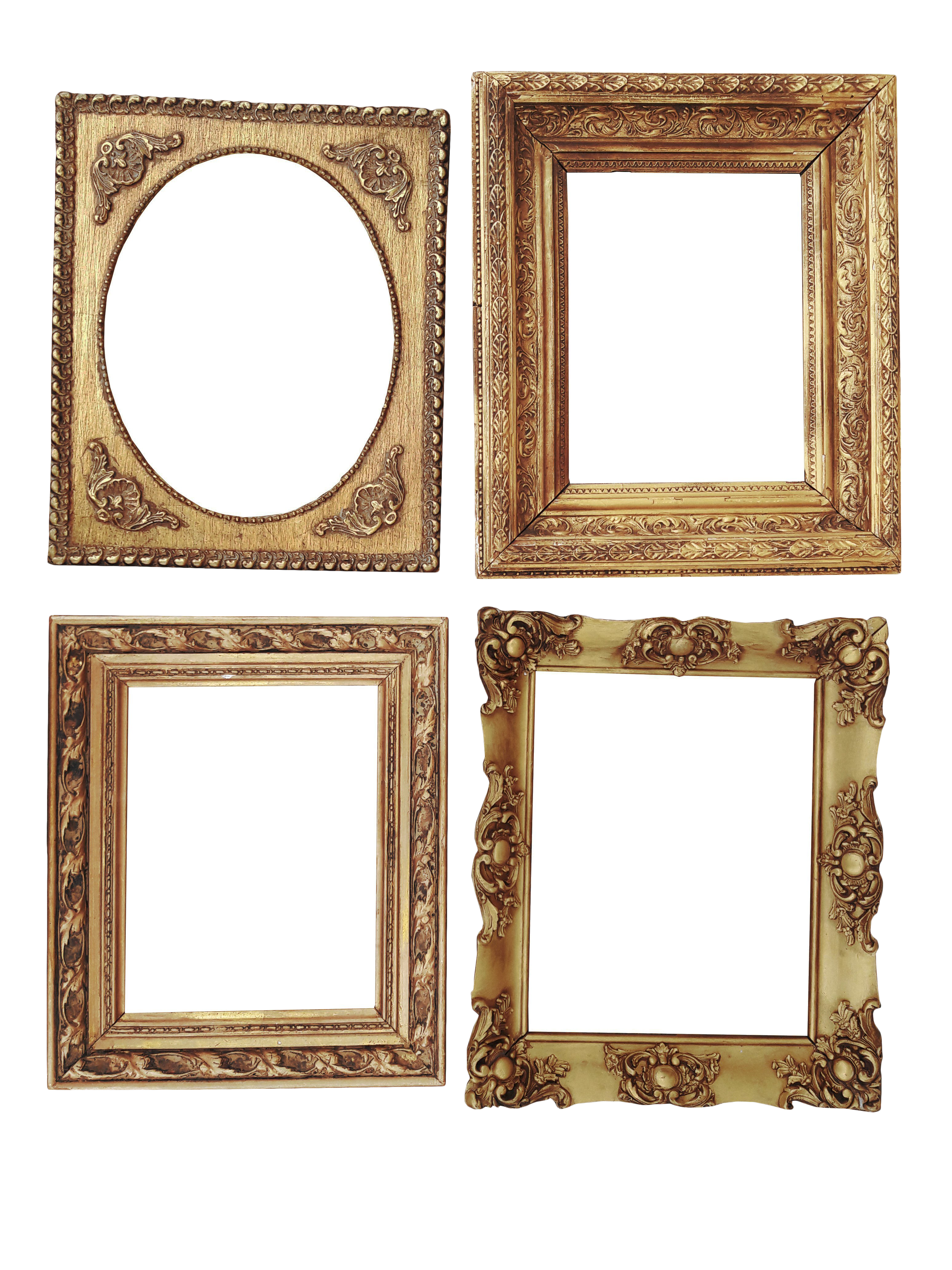 fa377061457c Collection Antique Gilt Gessp Frames S/4 Ornate Gold Antique Frames French  Style Gilt Frames   Chairish