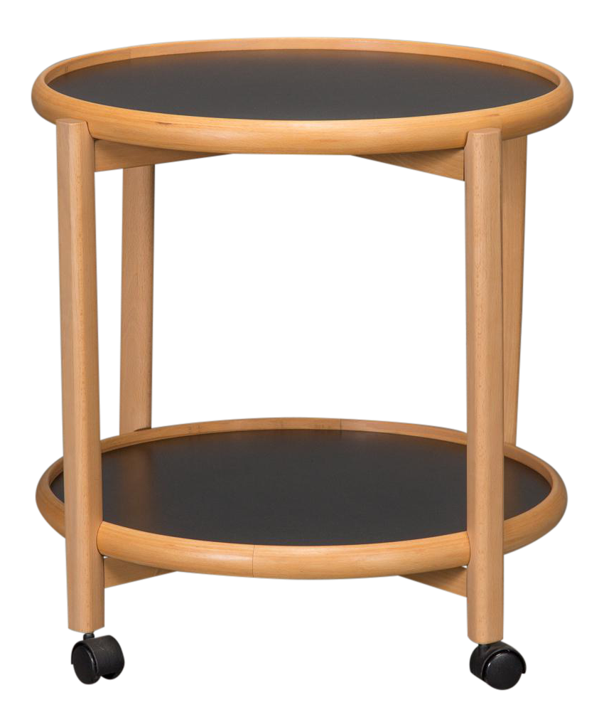 Two Tier Reversible Top Beech Amp Laminate Side Table Chairish