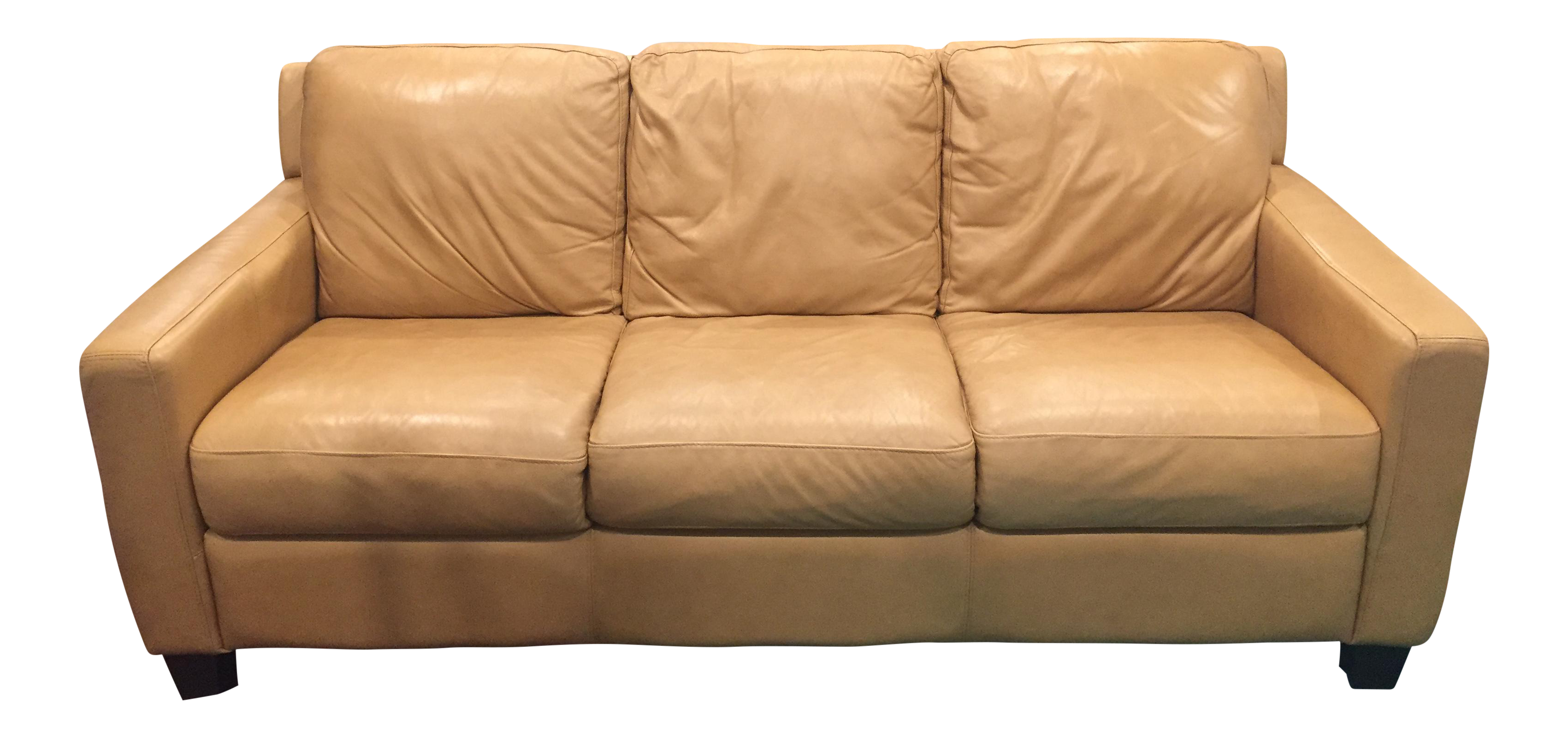 Stupendous Divani Chateau Dax Tan Italian Leather Sofa Caraccident5 Cool Chair Designs And Ideas Caraccident5Info