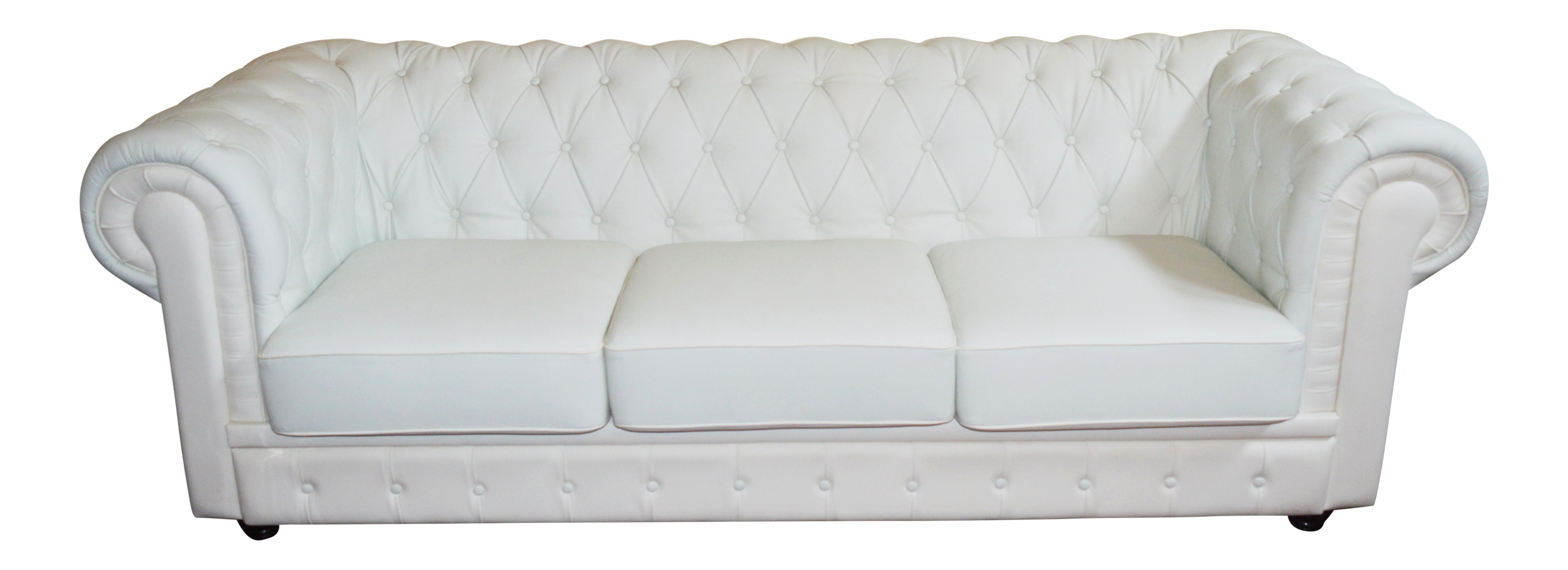 - Vintage 1990s Chesterfield Style Sofa Off White Leather Tufted