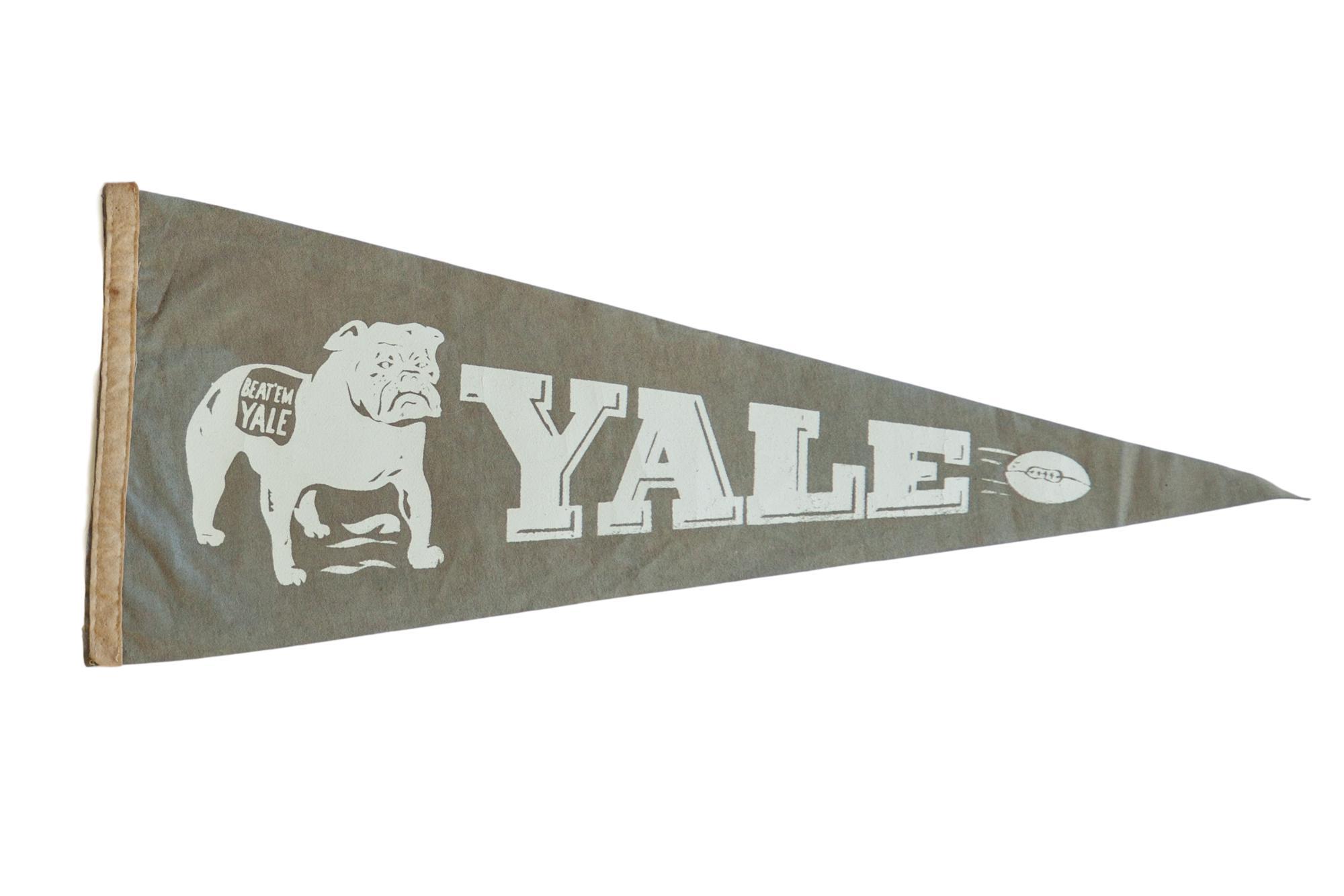 Vintage Yale Felt Flag Pennant Chairish