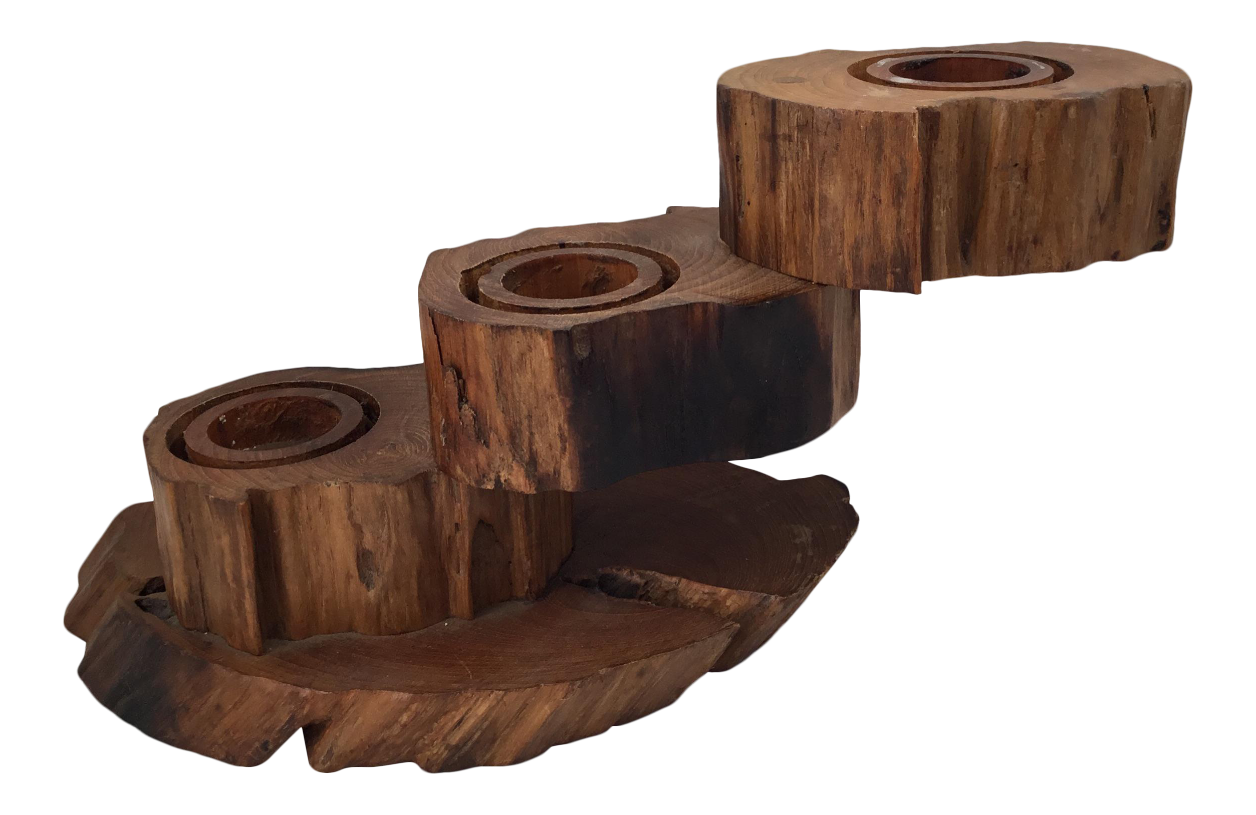 three tiered wooden candle holder chairish With kitchen cabinet trends 2018 combined with tiered candle holder
