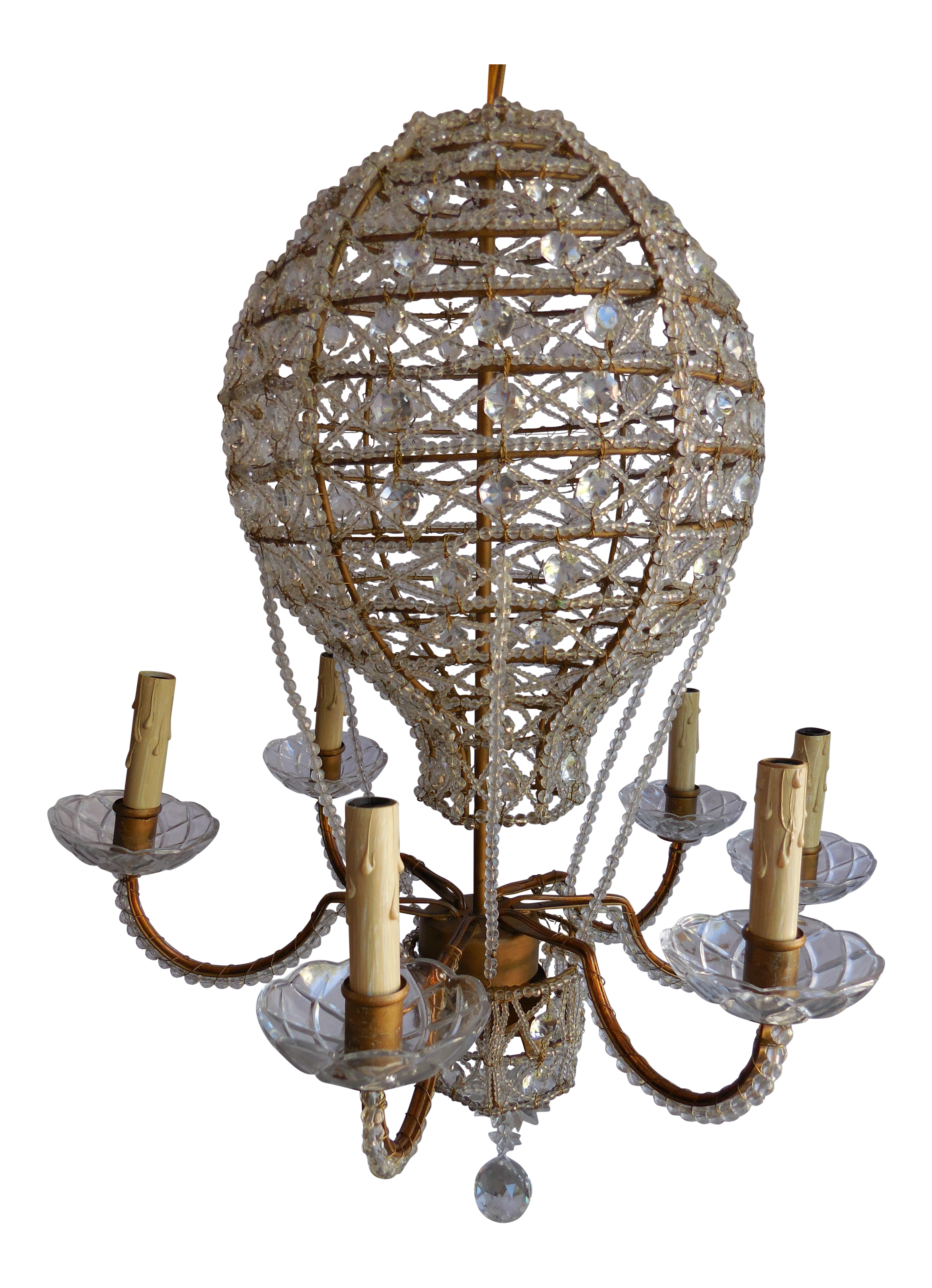 Mid Century Hot Air Balloon Chandelier