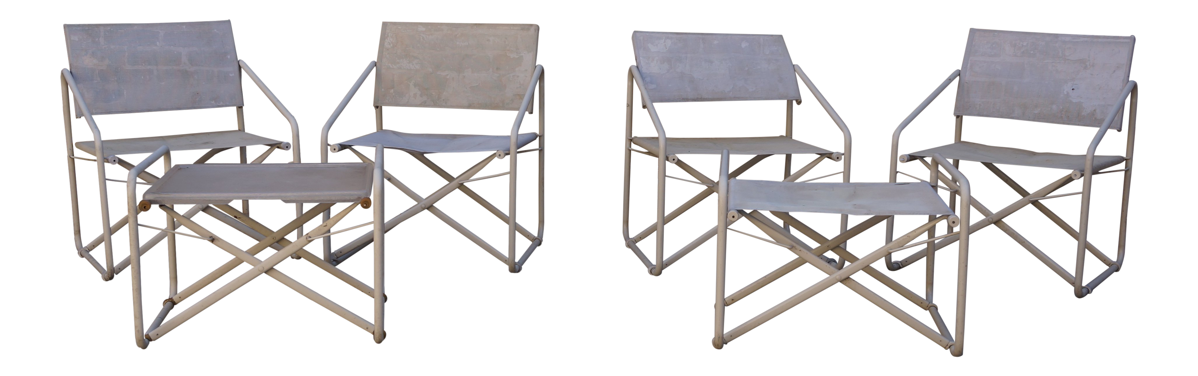 601fe90ede1e Vintage Mid-Century Brown Jordan Nomad Collection Outdoor Chairs   Ottomans  - 6 Pc. Set