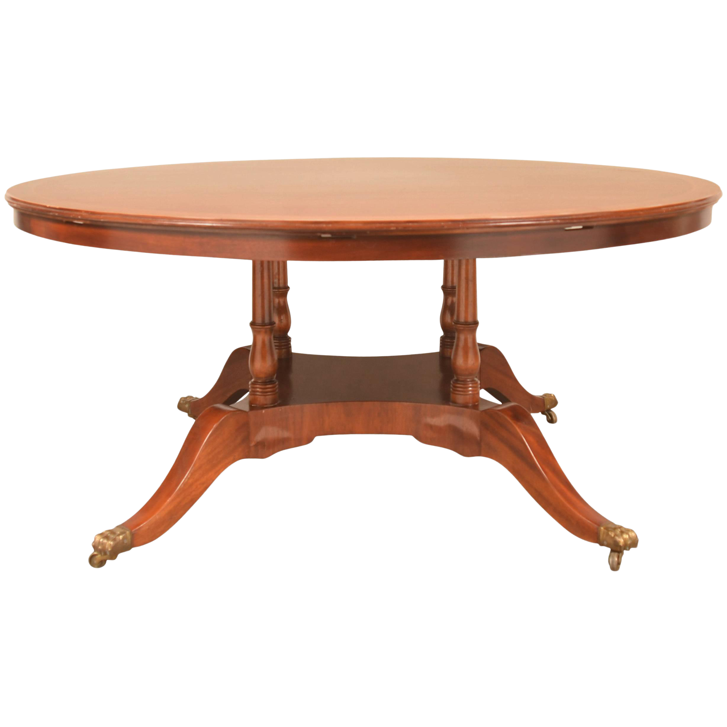 Regency Style Expanding Round Dining Table Chairish