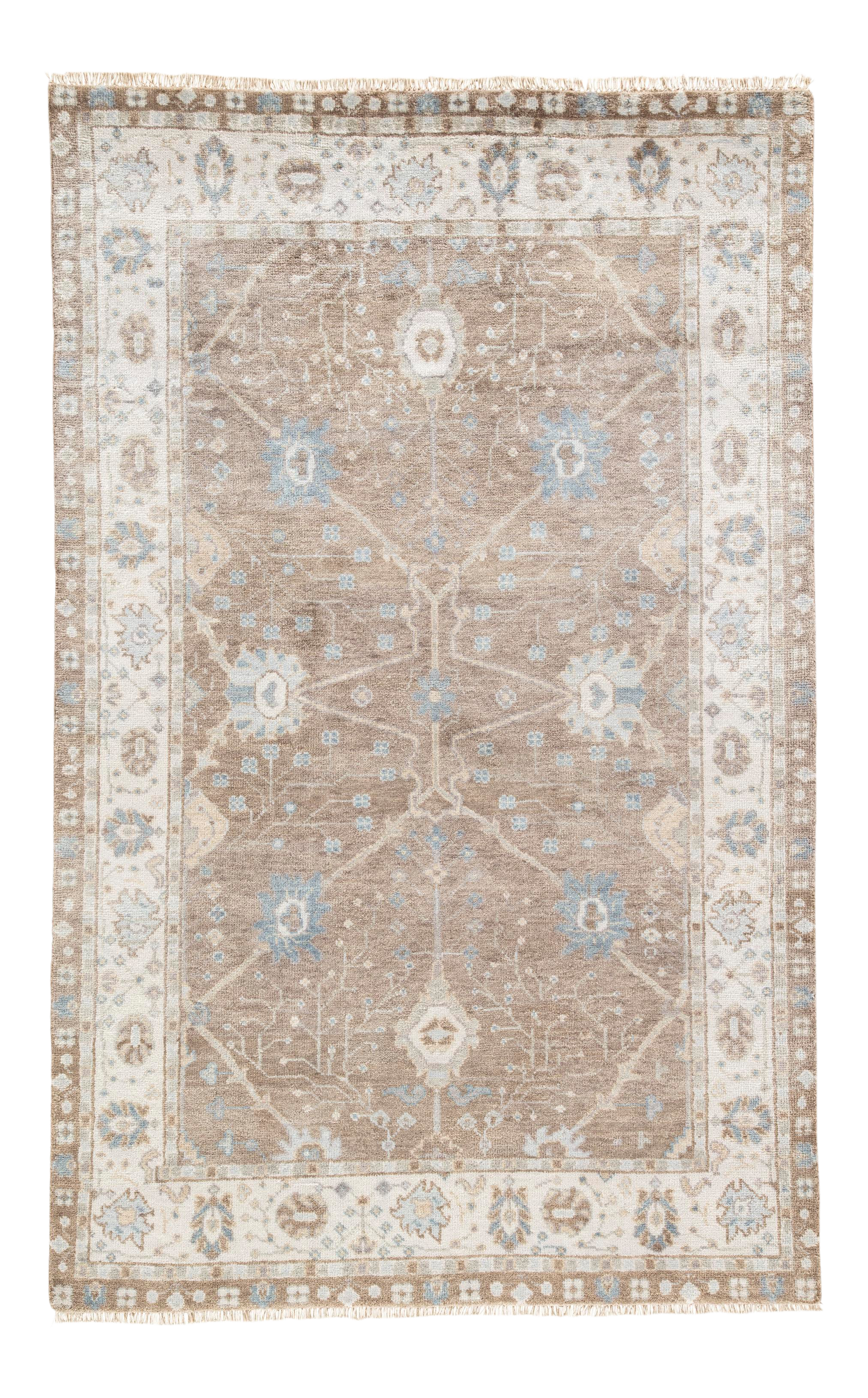 Jaipur Living Princeton Hand Knotted Floral Tan Light Blue Area Rug 9 12 Chairish