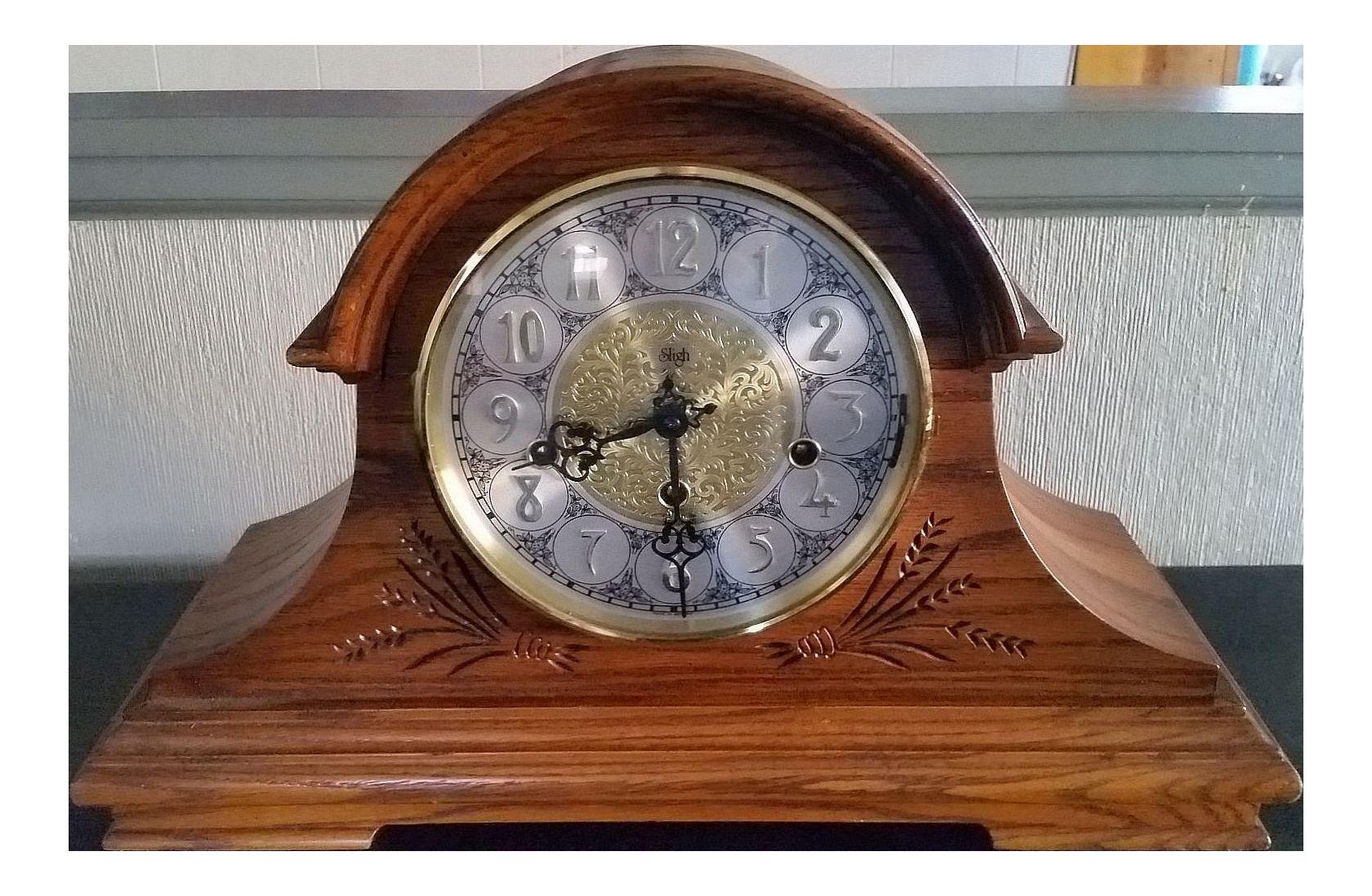 Vintage Franz Hermle Sligh 2 Jewel Mantel Clock Chairish