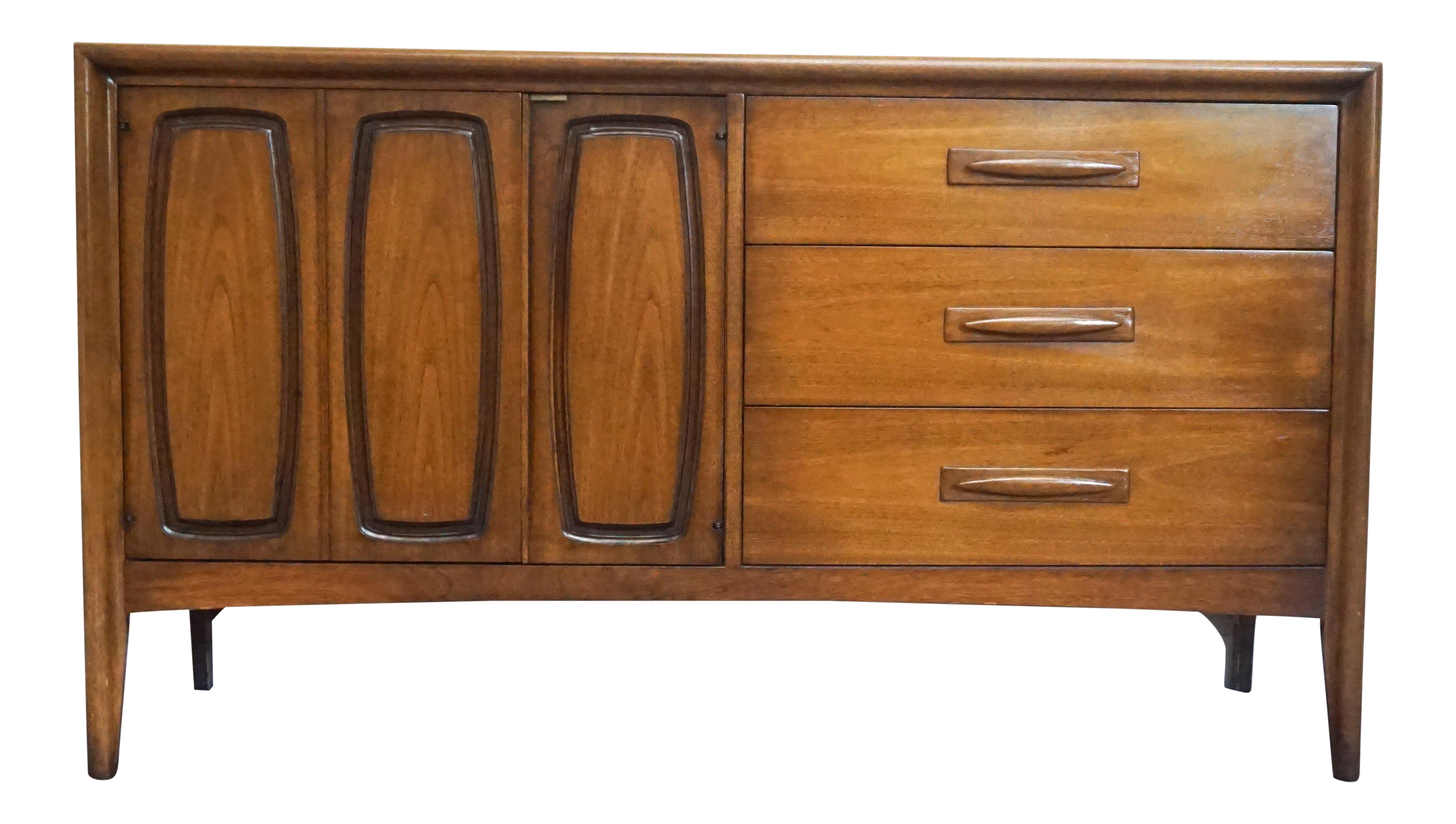 Danish Floating Credenza : S danish modern broyhill emphasis credenza sideboard chairish
