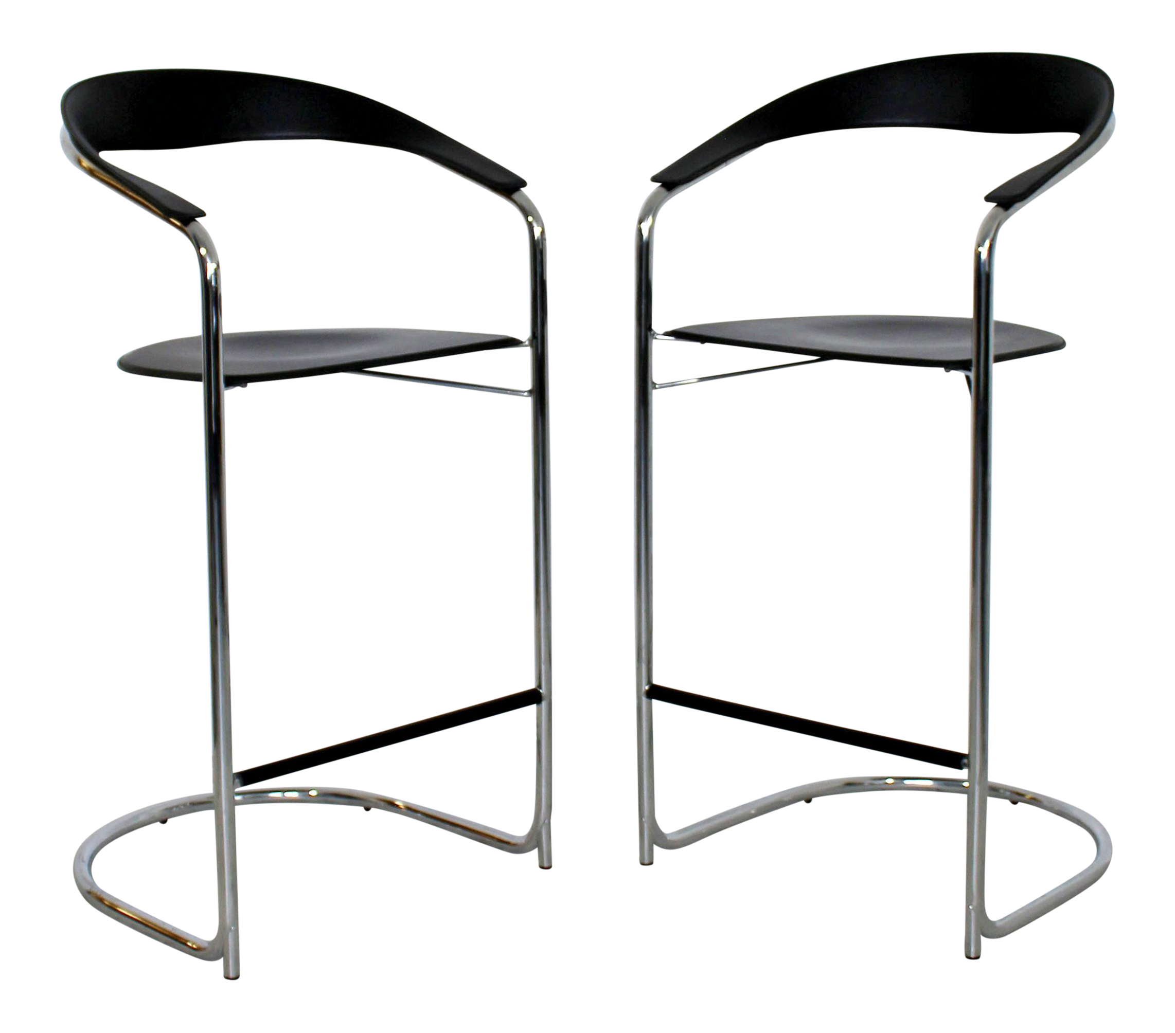 Terrific 1970S Vintage Thonet Italian Mid Century Modern Bar Stools A Pair Dailytribune Chair Design For Home Dailytribuneorg