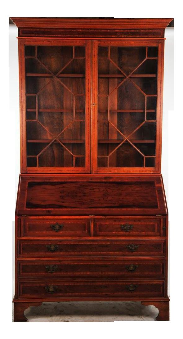 19th Century Empire Gany Drop Leaf Secretary Desk With Hutch Chairish