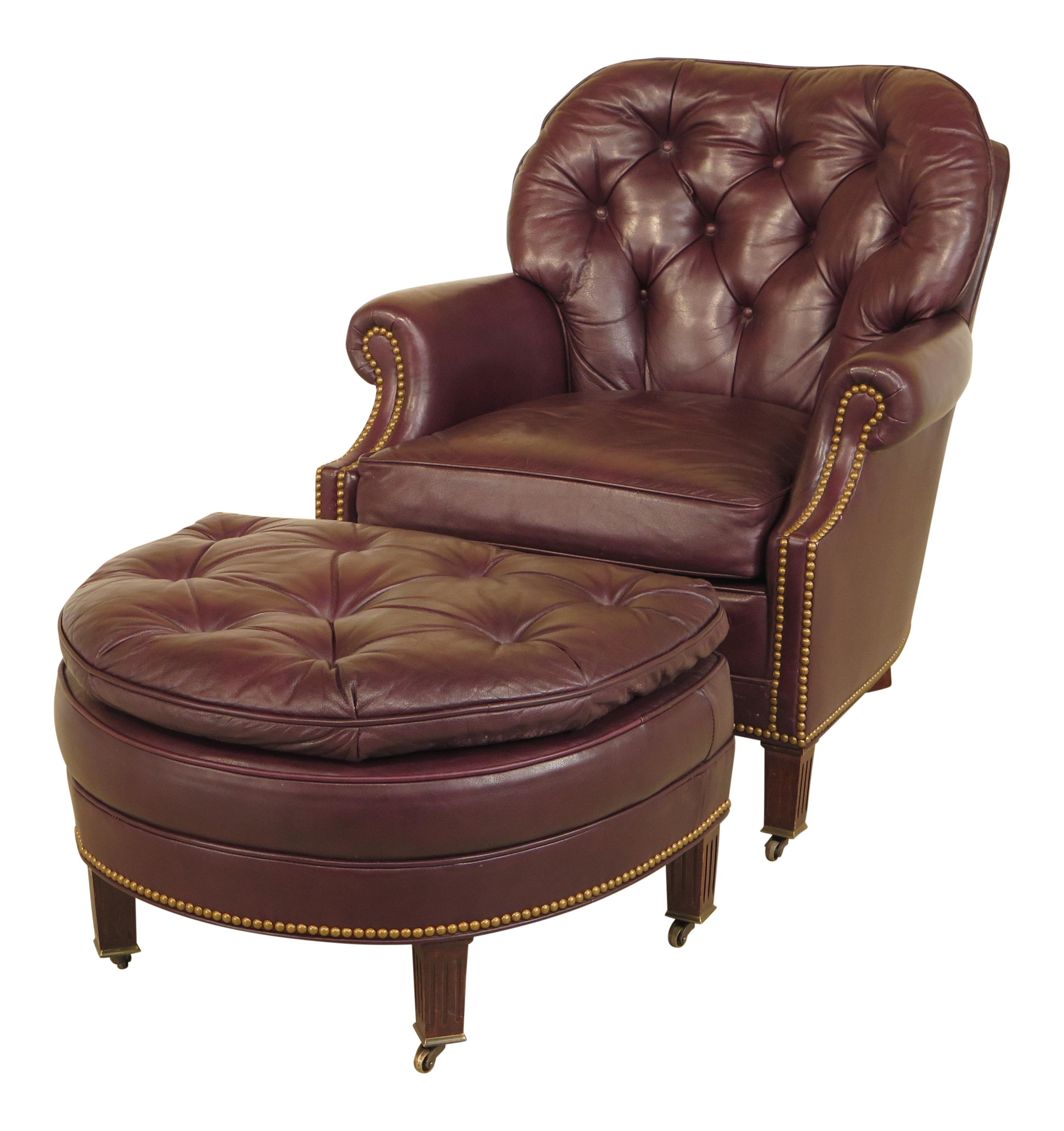 shop curriers chair leather with ottoman portsmouth close classic recliner out