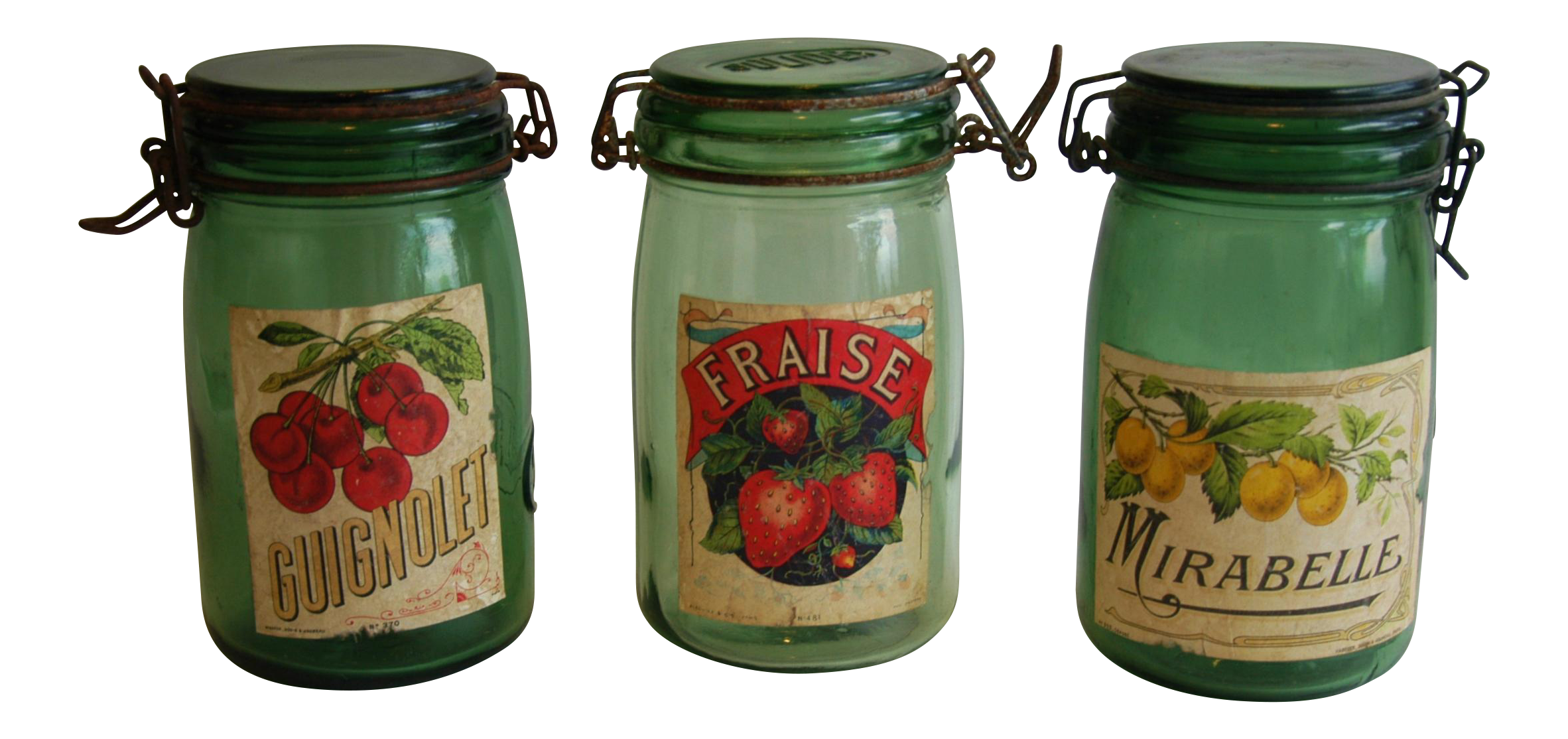 1930s french canning preserve jars w labels lids set With kitchen cabinet trends 2018 combined with mason jar lid stickers