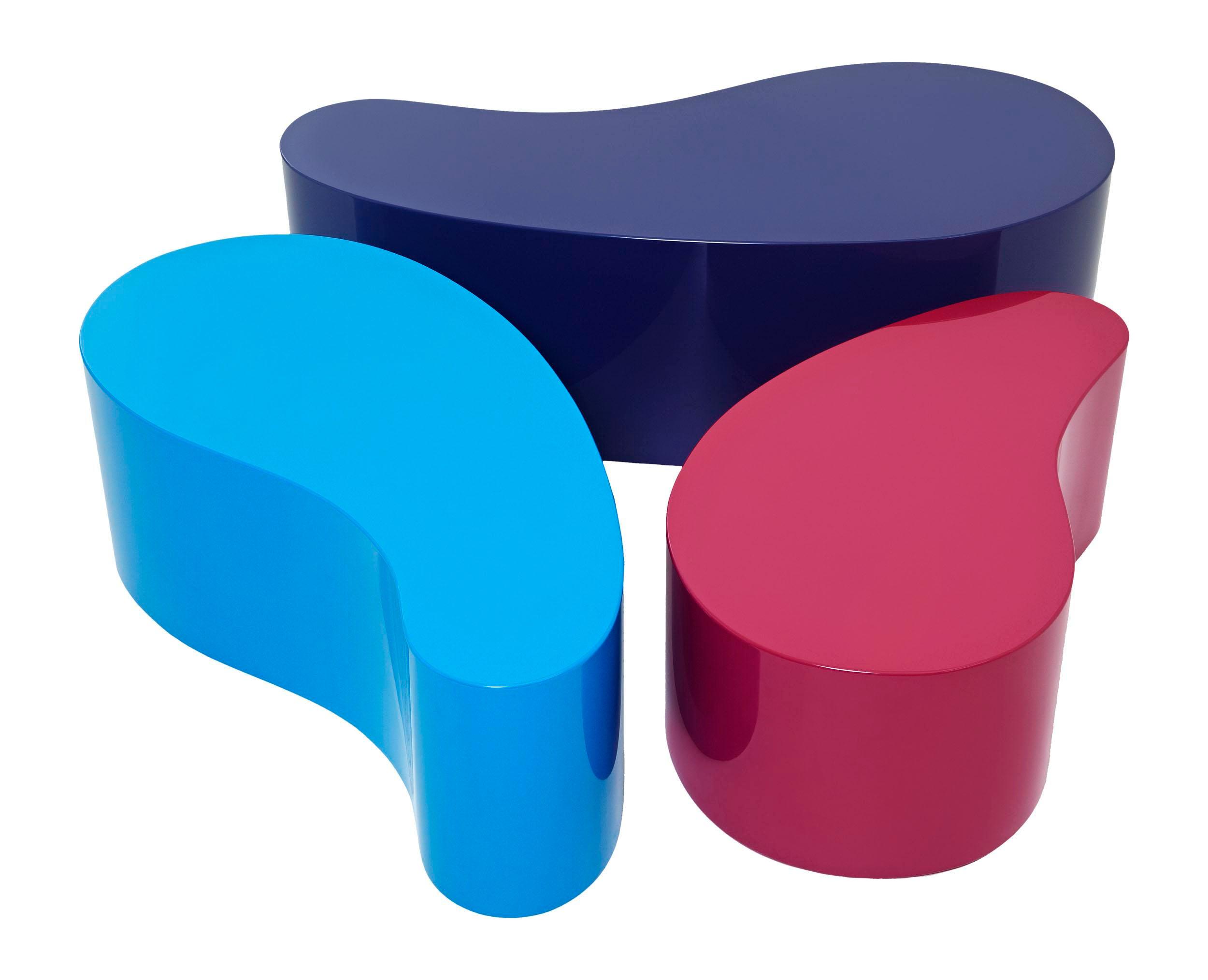 Coffee Bean Tables Set Of 3 Chairish