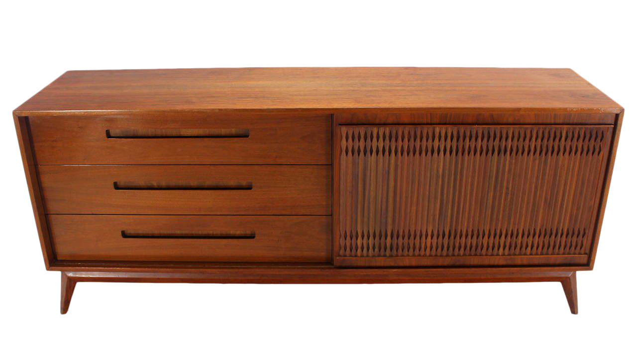 Danish Credenza Walnut : World class danish mid century modern walnut long credenza dresser
