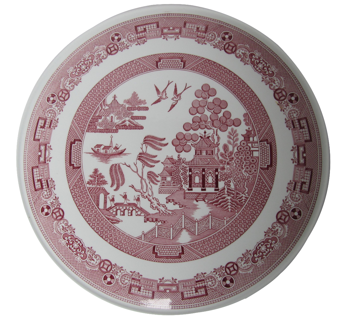 sc 1 st  Chairish & Spode Cranberry Willow Cake Plate | Chairish