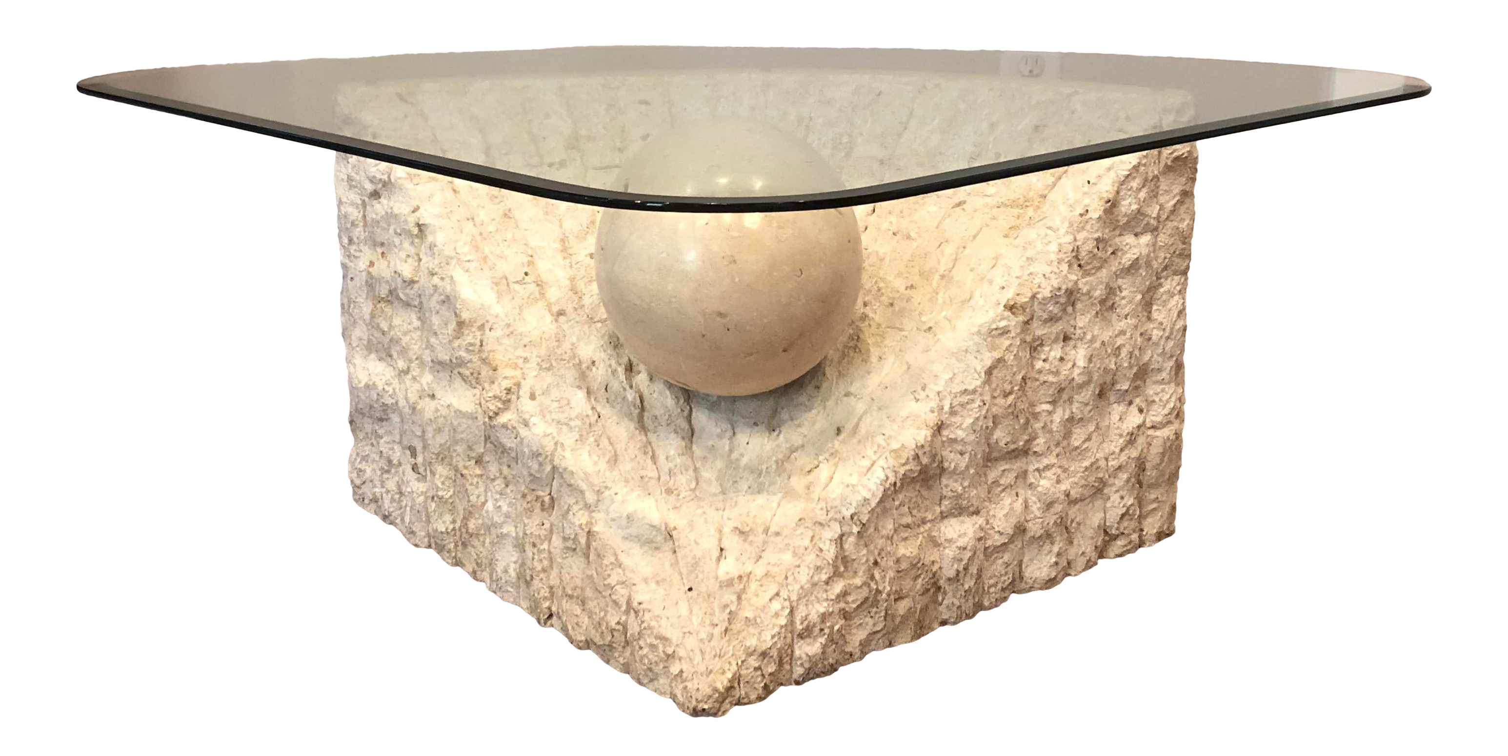 - 1970s Post Modern Tessellated Stone Magnussen Ponte Coffee Table