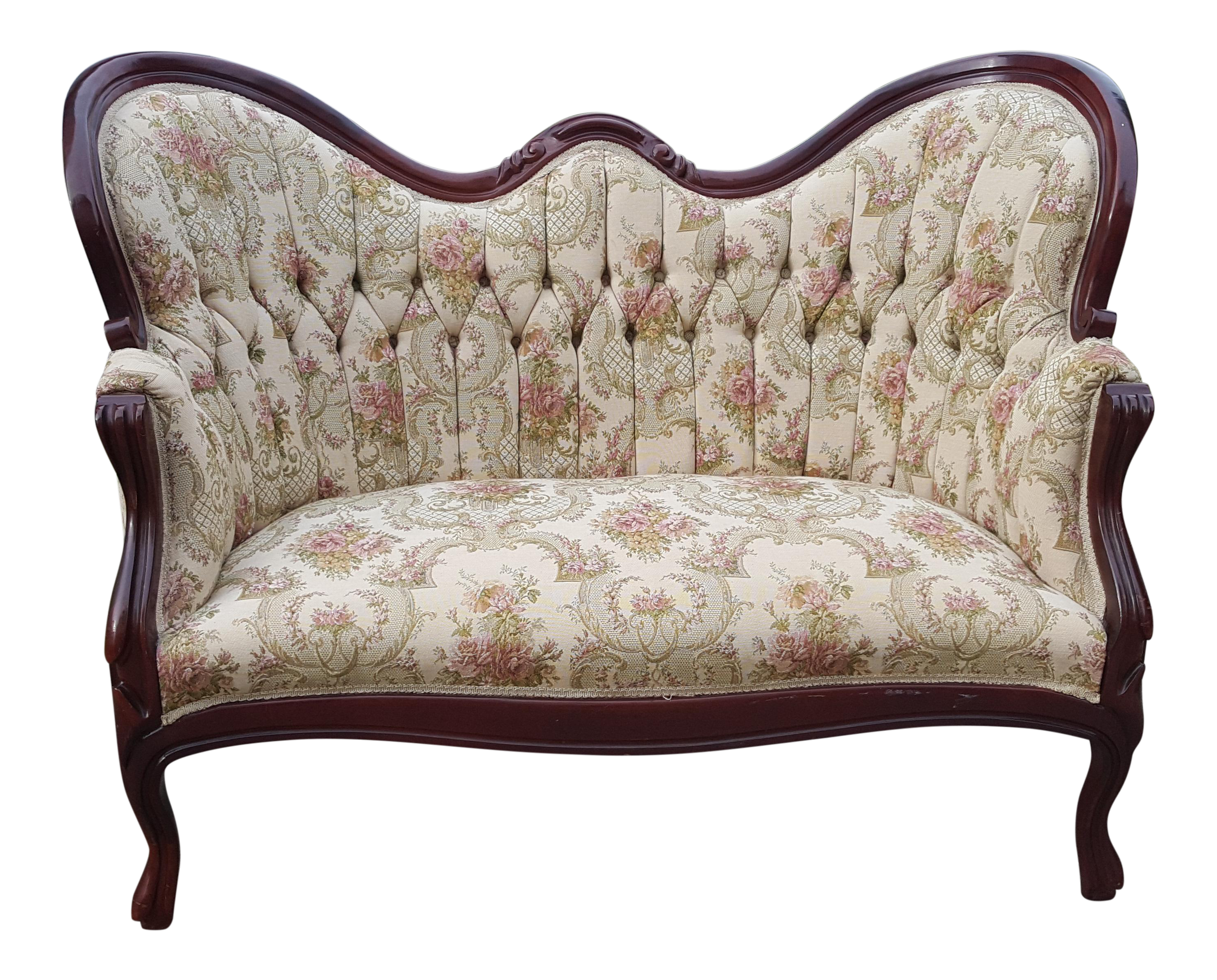 in style back shop antique loveseat arched napoleon the sofa products tufted second custom diamond iii empire made
