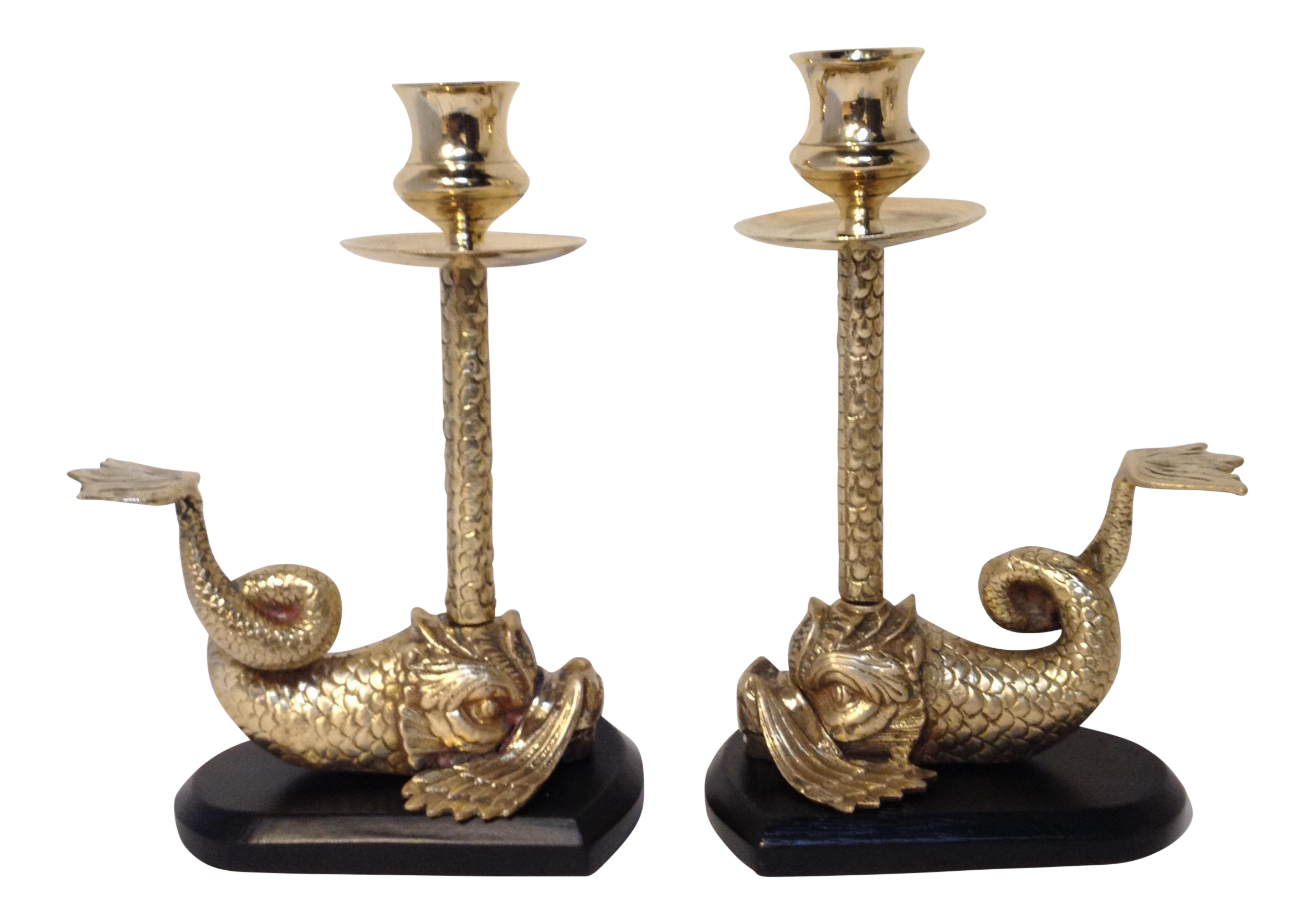 brass 39pisces39 candle holders a pair chairish With kitchen cabinet trends 2018 combined with brass wall sconces candle holders