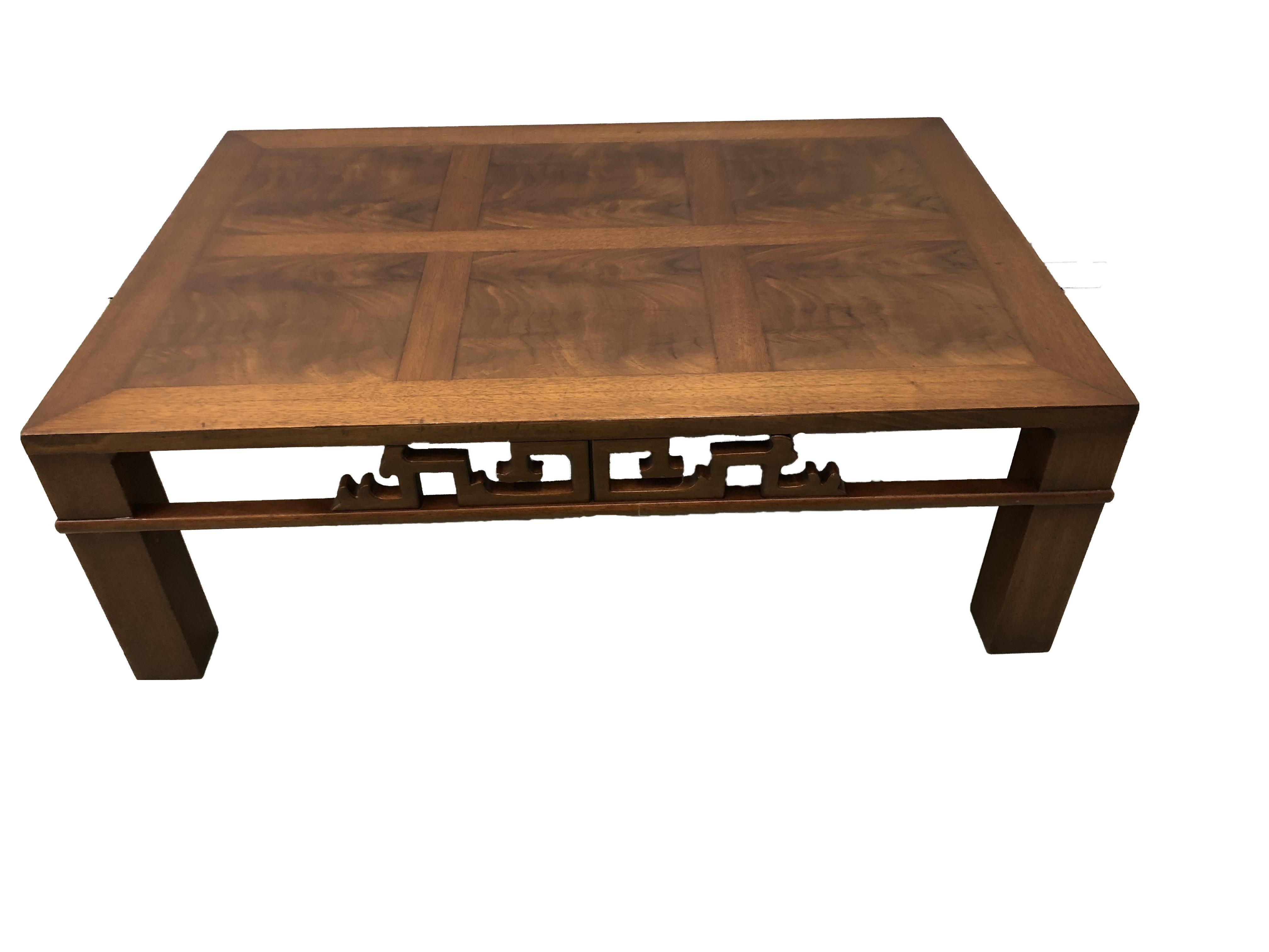 1990s Mid Century Modern Heritage Henredon Mahogany Coffee Table Chairish
