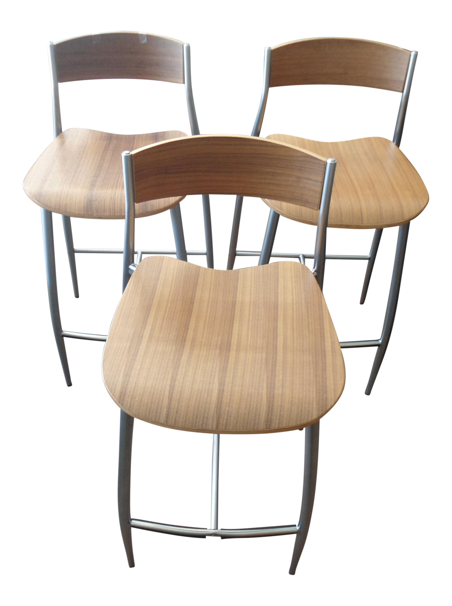 Stupendous Design Within Reach Baba Counter Stools Wood W Metal Frame Set Of 3 Creativecarmelina Interior Chair Design Creativecarmelinacom