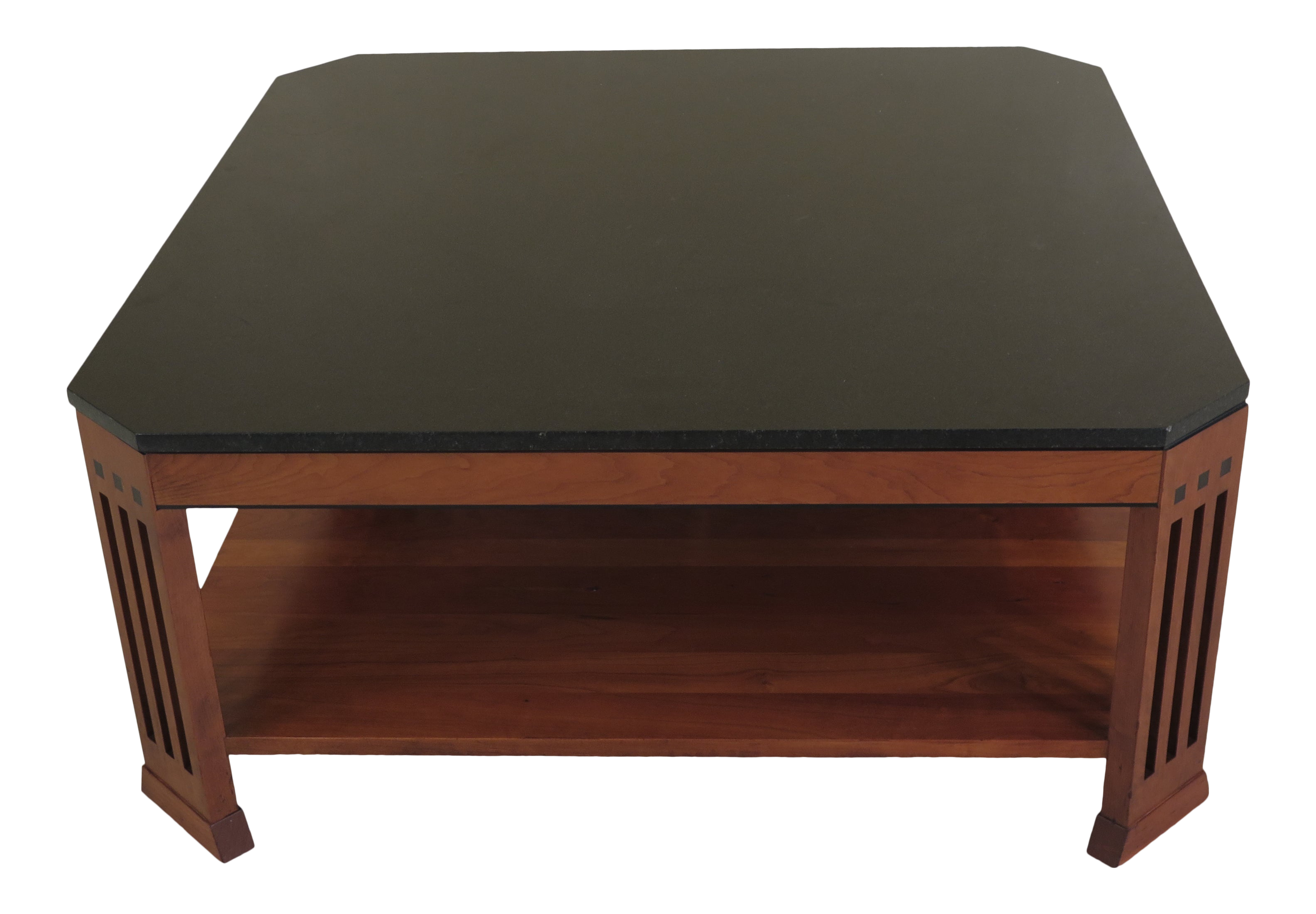 - Traditional Stickley Granite Top Cherry Coffee Table Chairish