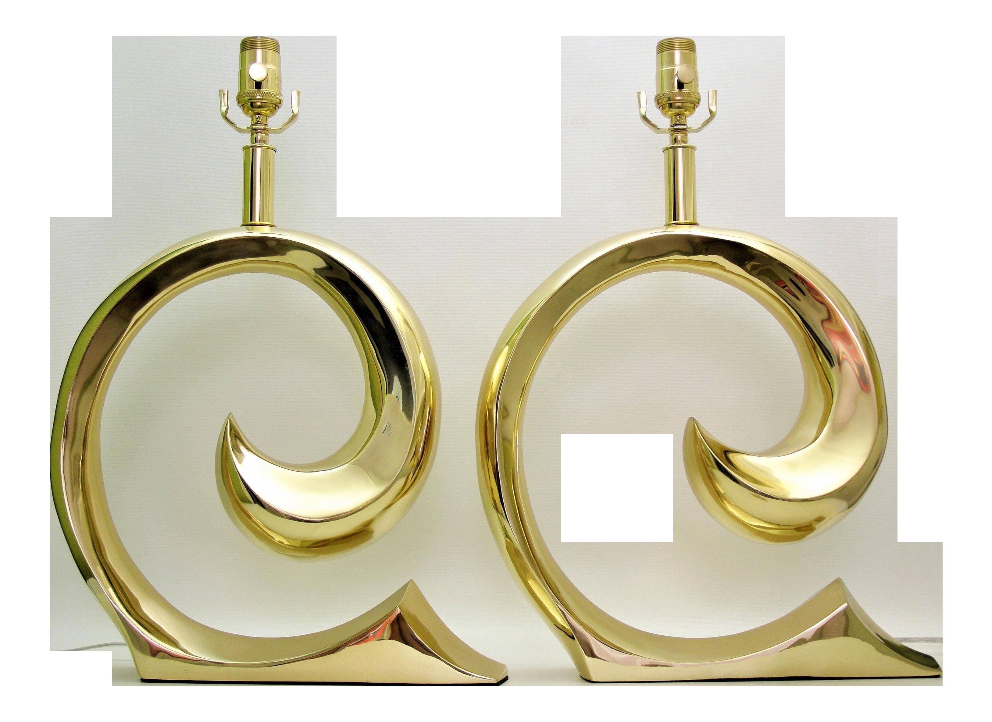 Restored pierre cardin mid century modern solid brass logo restored pierre cardin mid century modern solid brass logo designer lamps a pair millennial chairish biocorpaavc Choice Image