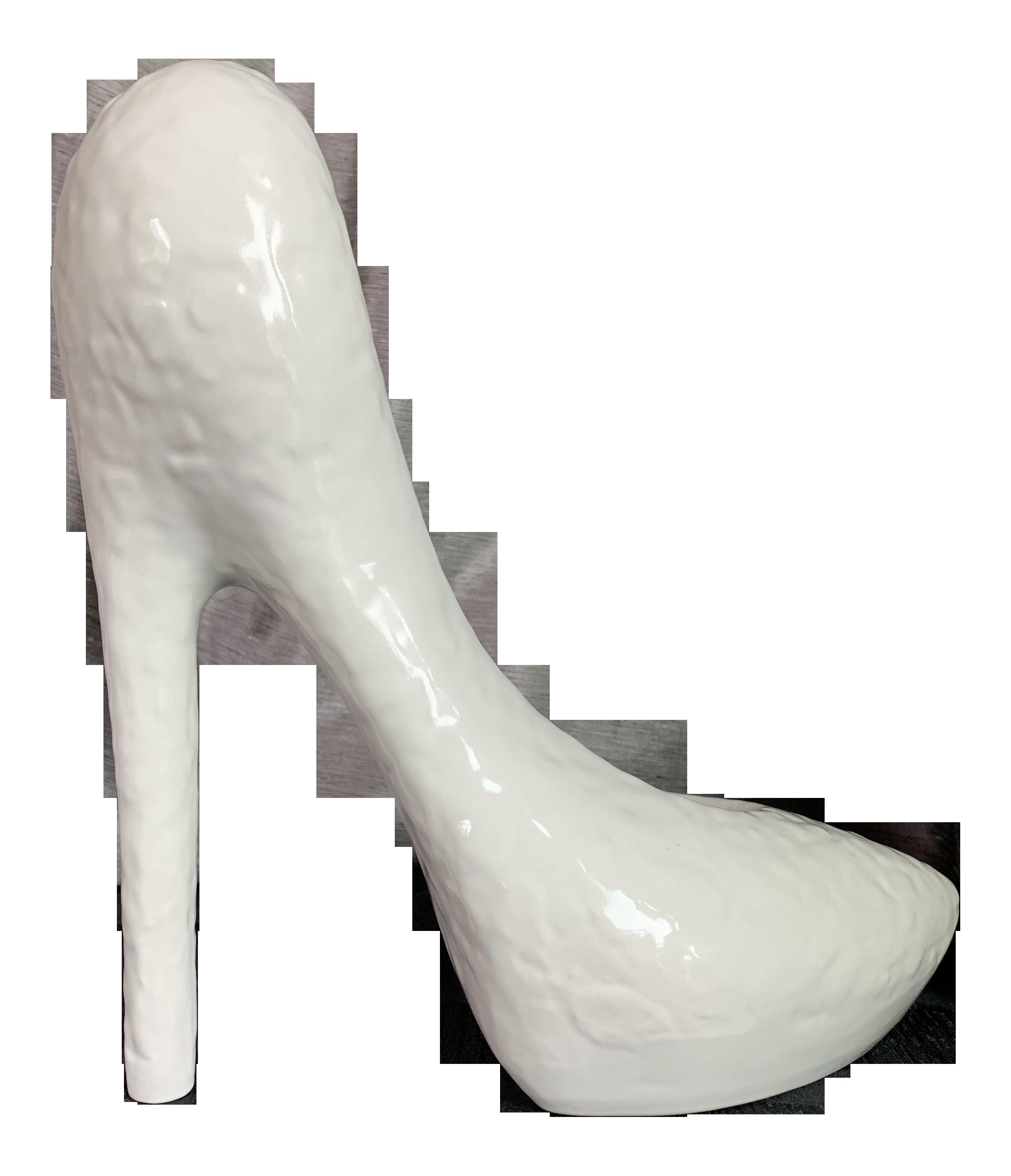 Large Pop Art Inspired High Heel Shoe Ceramic Pottery Sculpture