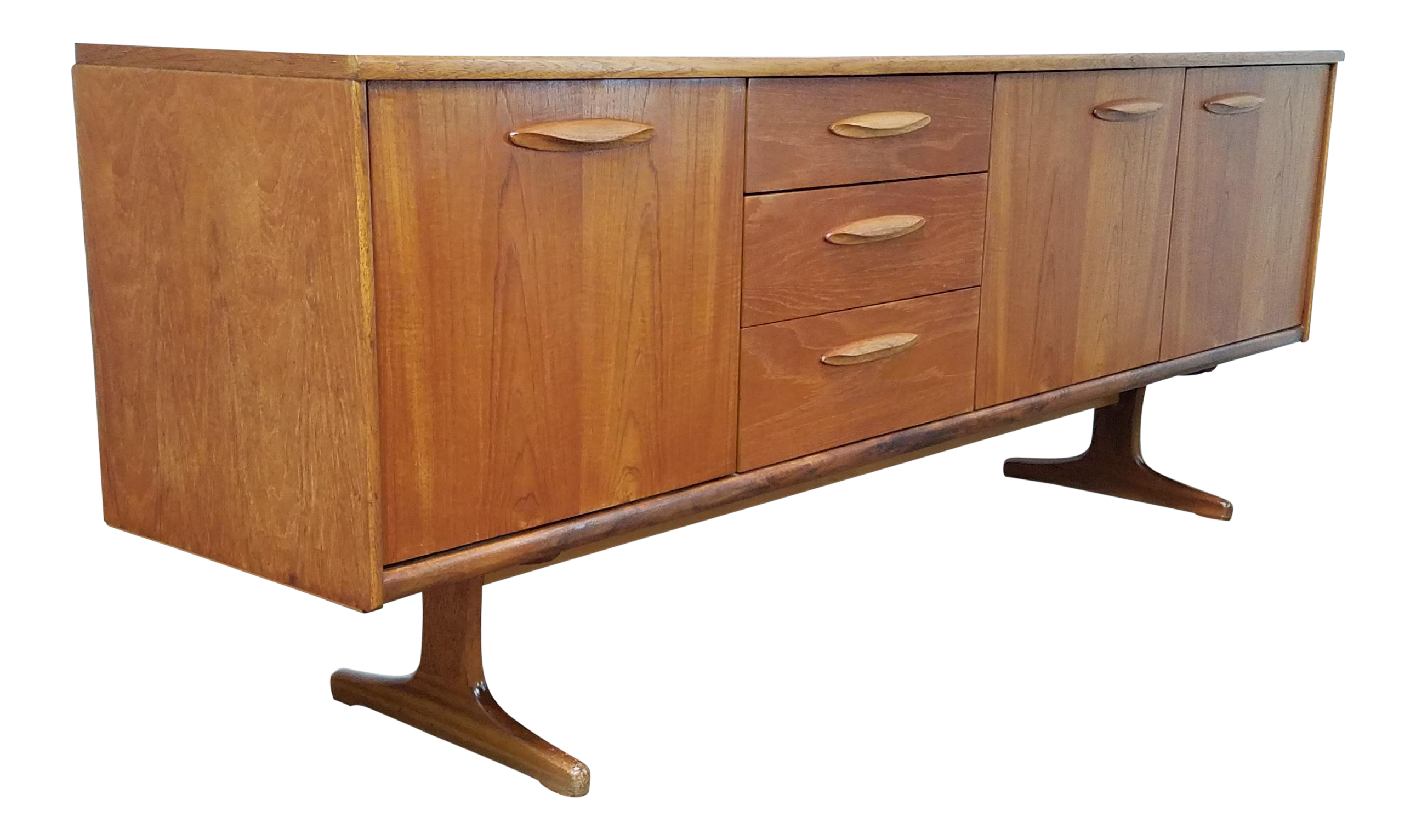 Danish Credenza Los Angeles : S danish modern credenza media console chairish