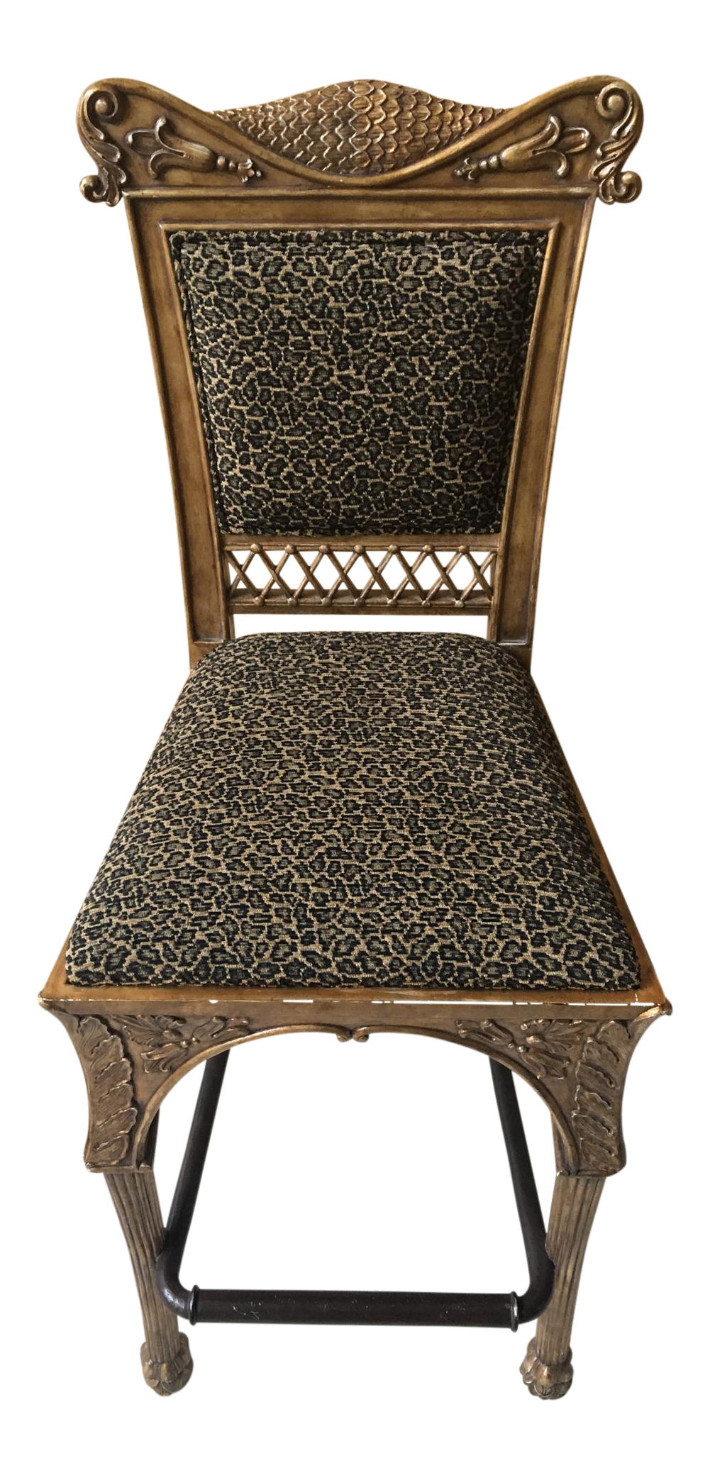 Maitland Smith Cheetah Print Bar Stool Chairish