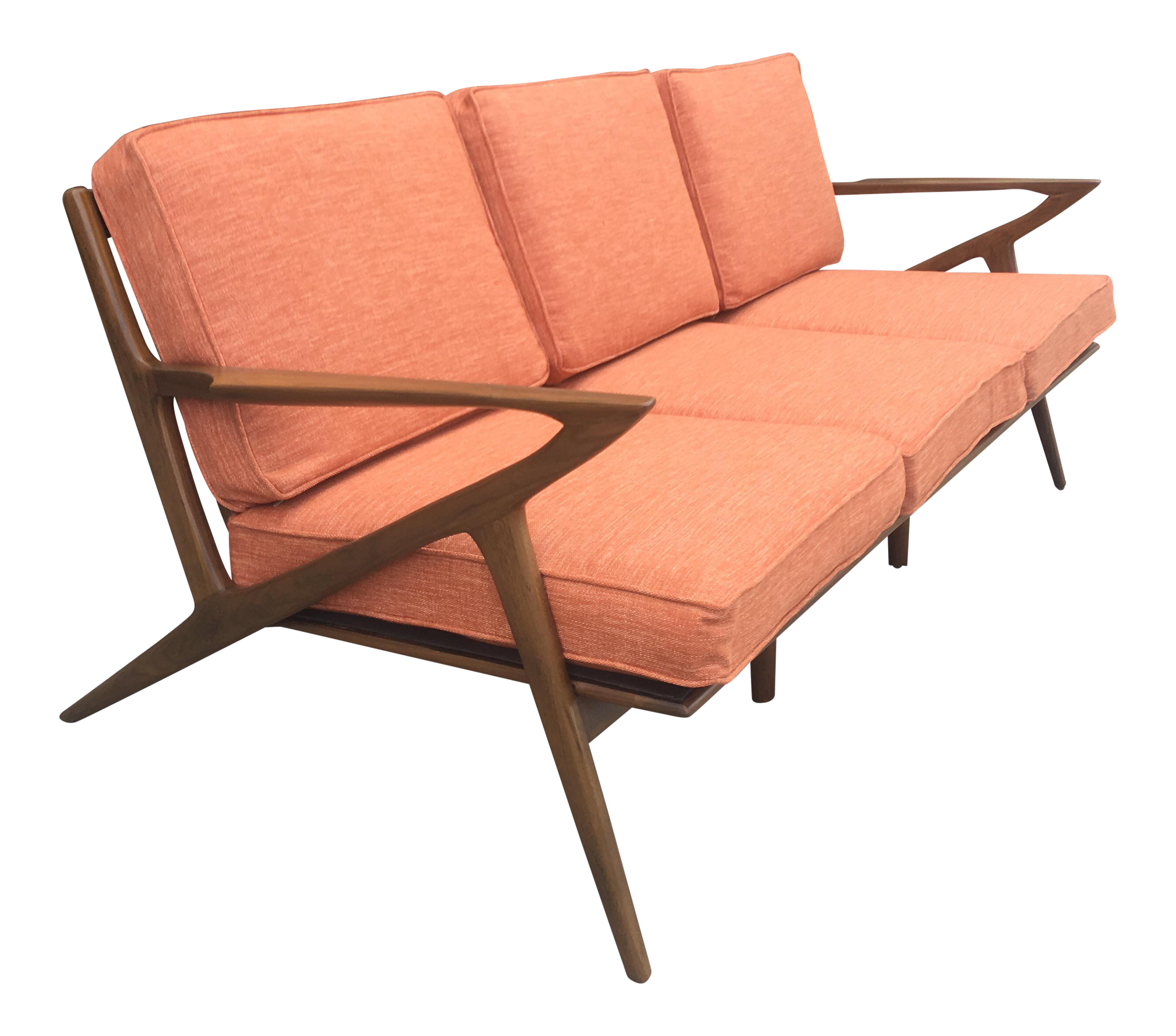 Mid Century Terra Cotta Z Sofa Chairish