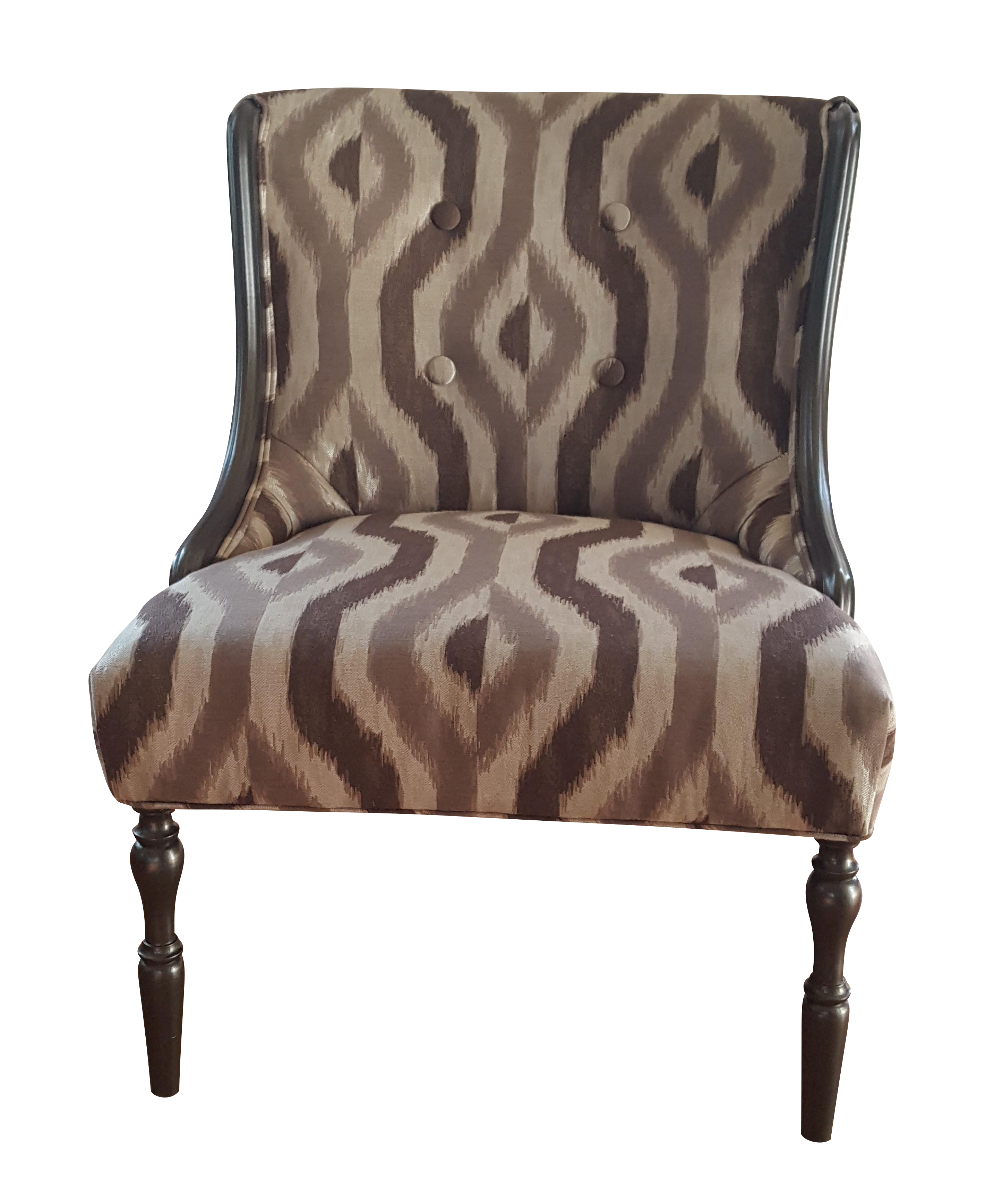 Vintage gray silver accent chair chairish