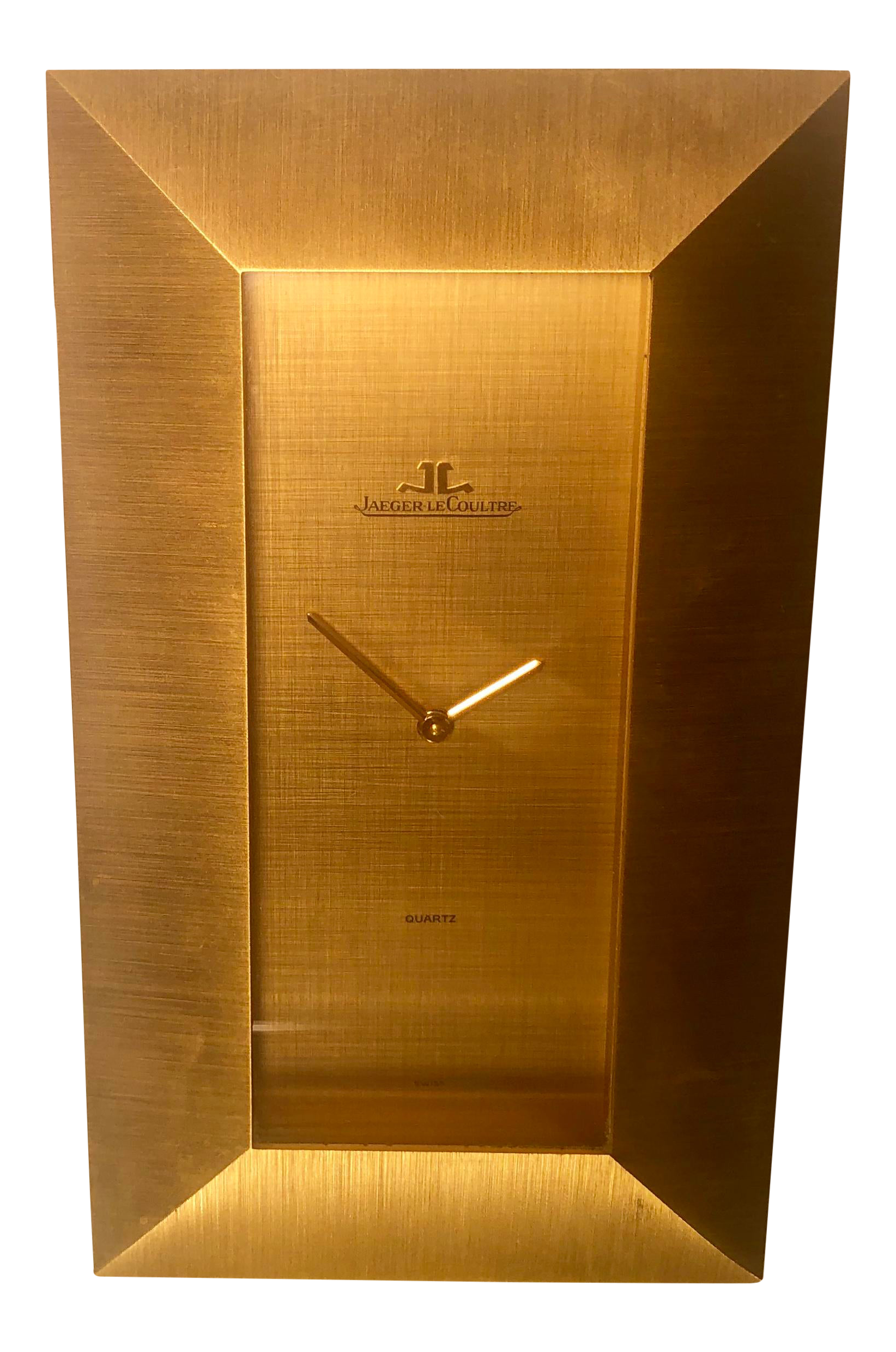 Jaeger Le Coultre Swiss Made Mid-Century Modern Desk Clock