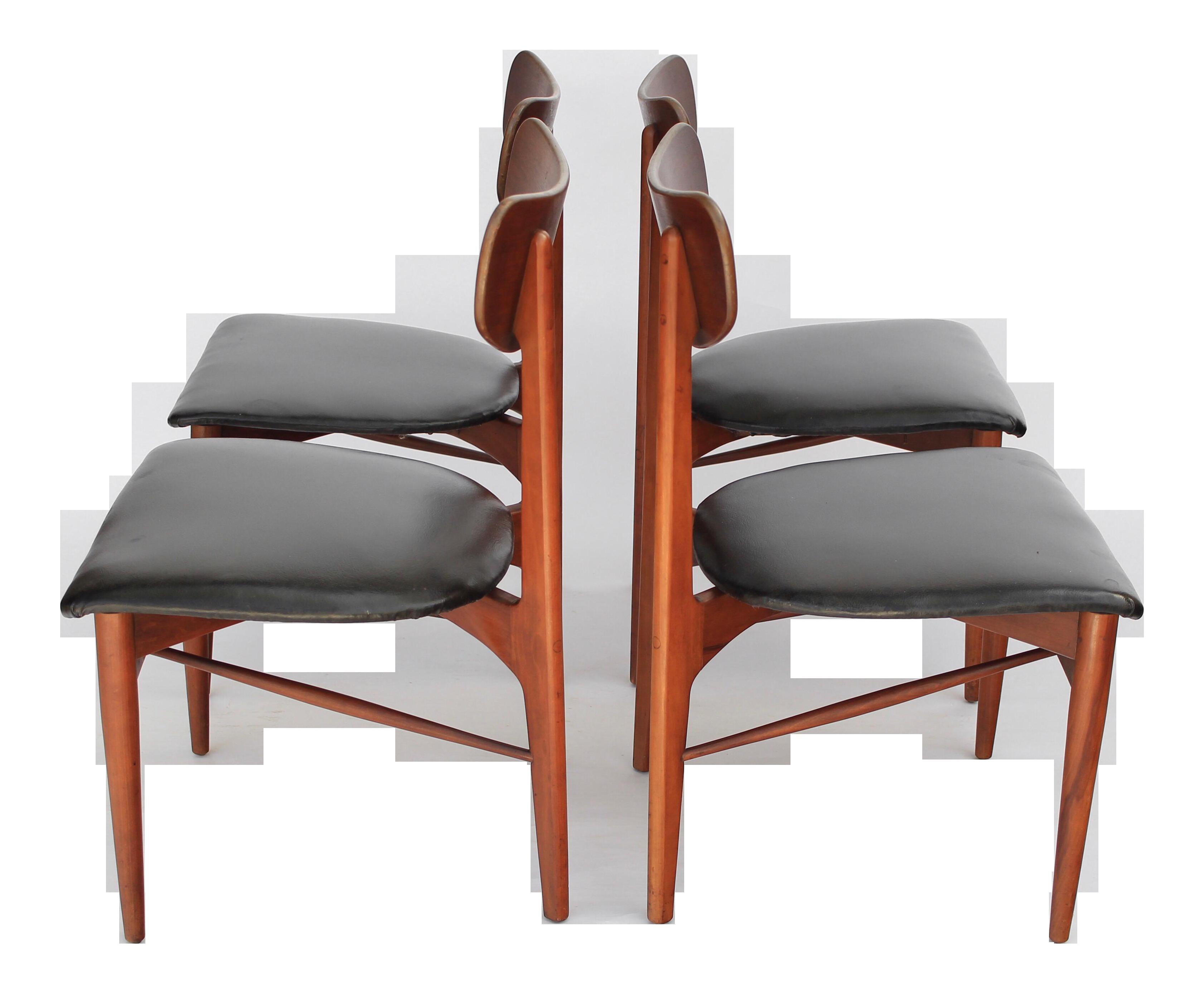 Mid century danish modern dining chairs set of 4 chairish