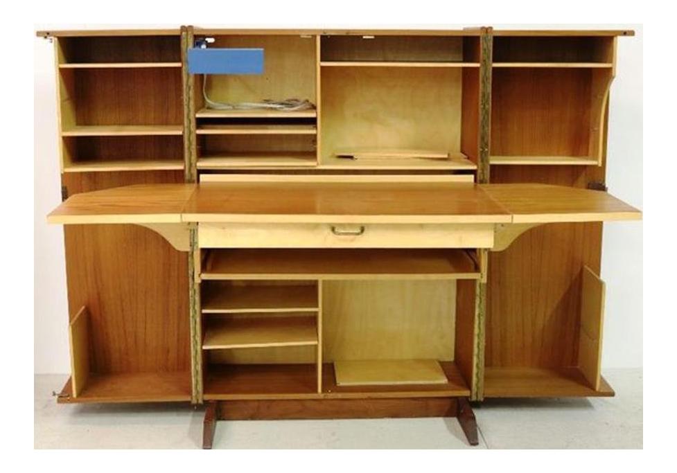 Mobili Italiani Moderni : Mid century modern mobili italiani moderni folding teak desk